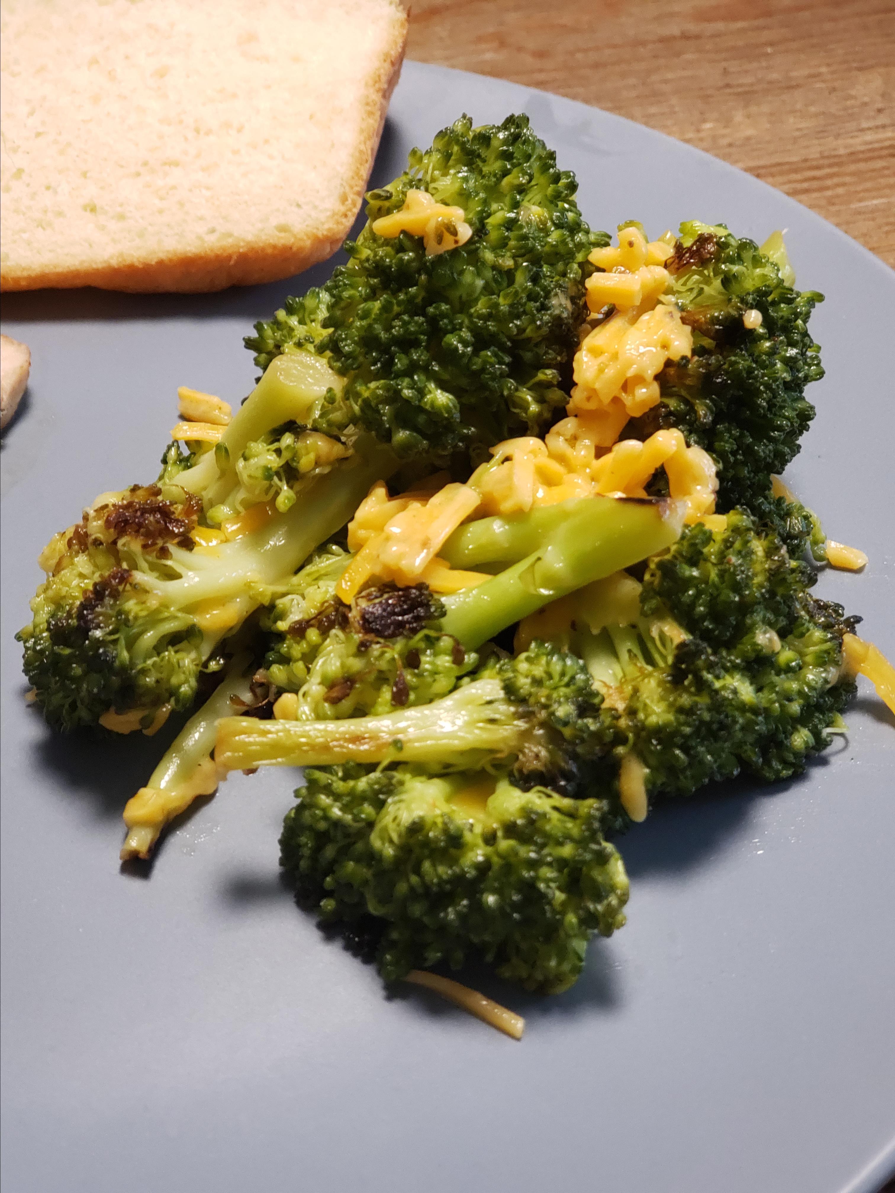 Cheesy Grilled Broccoli CLDaigle