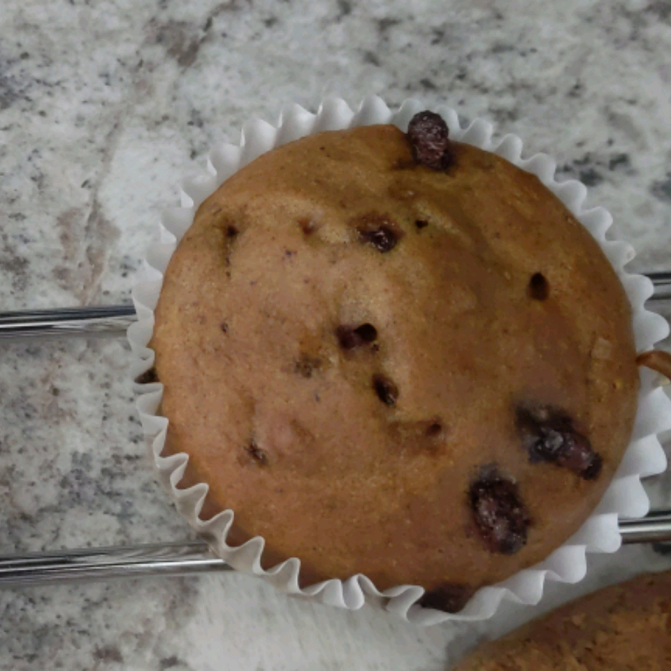 Chocolate Chip Muffins with Applesauce
