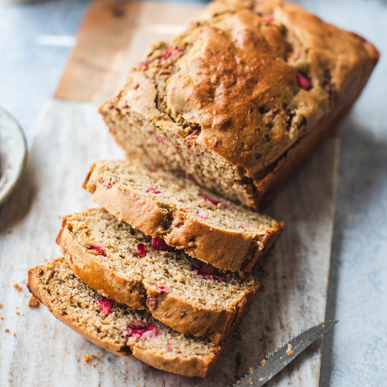Sweet raspberries and tangy rhubarb jibe beautifully in this spring-inspired whole-wheat quick bread recipe.Source: EatingWell.com, February 2017