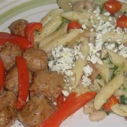 Penne with Spicy Chicken Sausage, Beans, and Greens banana9bae