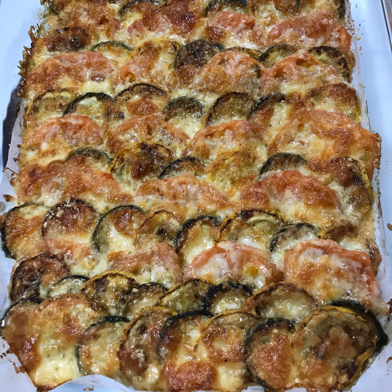Zucchini e Pomodori Gratinati (Zucchini and Tomato Gratin)