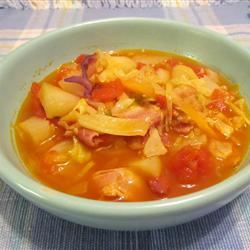 Irish Bacon And Cabbage Soup