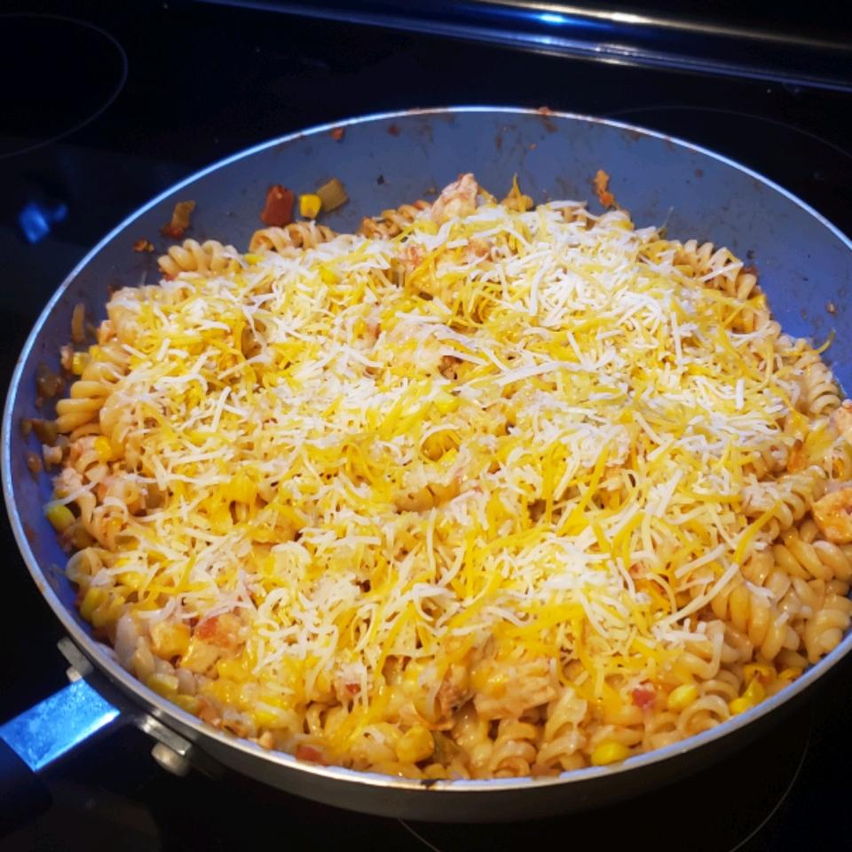 Cheesy Chicken and Salsa Skillet