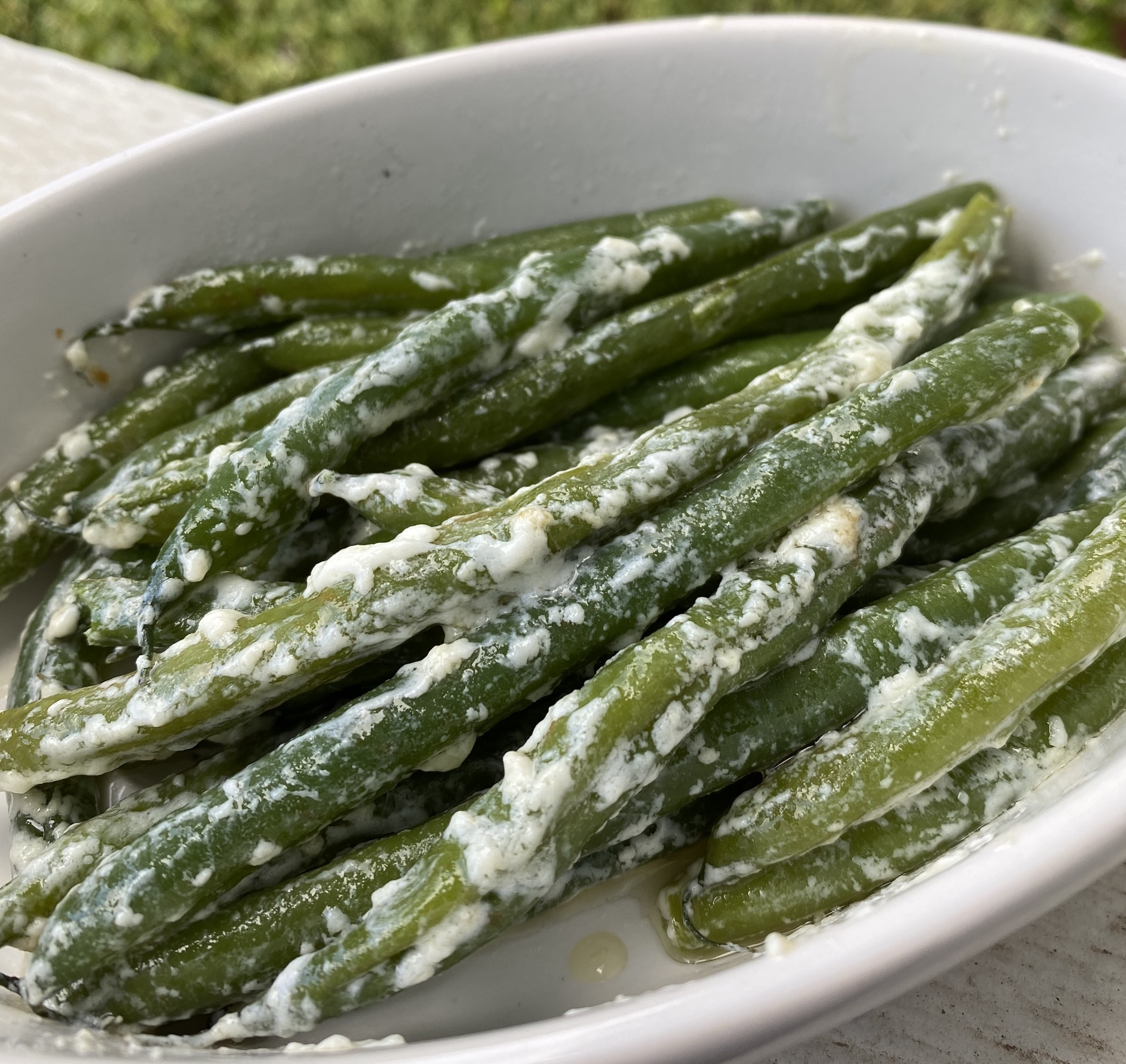 Easy Green Beans with Cream Cheese thedailygourmet