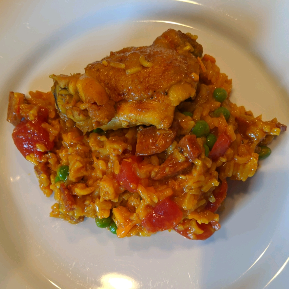 Pressure Cooker Paella with Chicken Thighs and Smoked Sausage Diana
