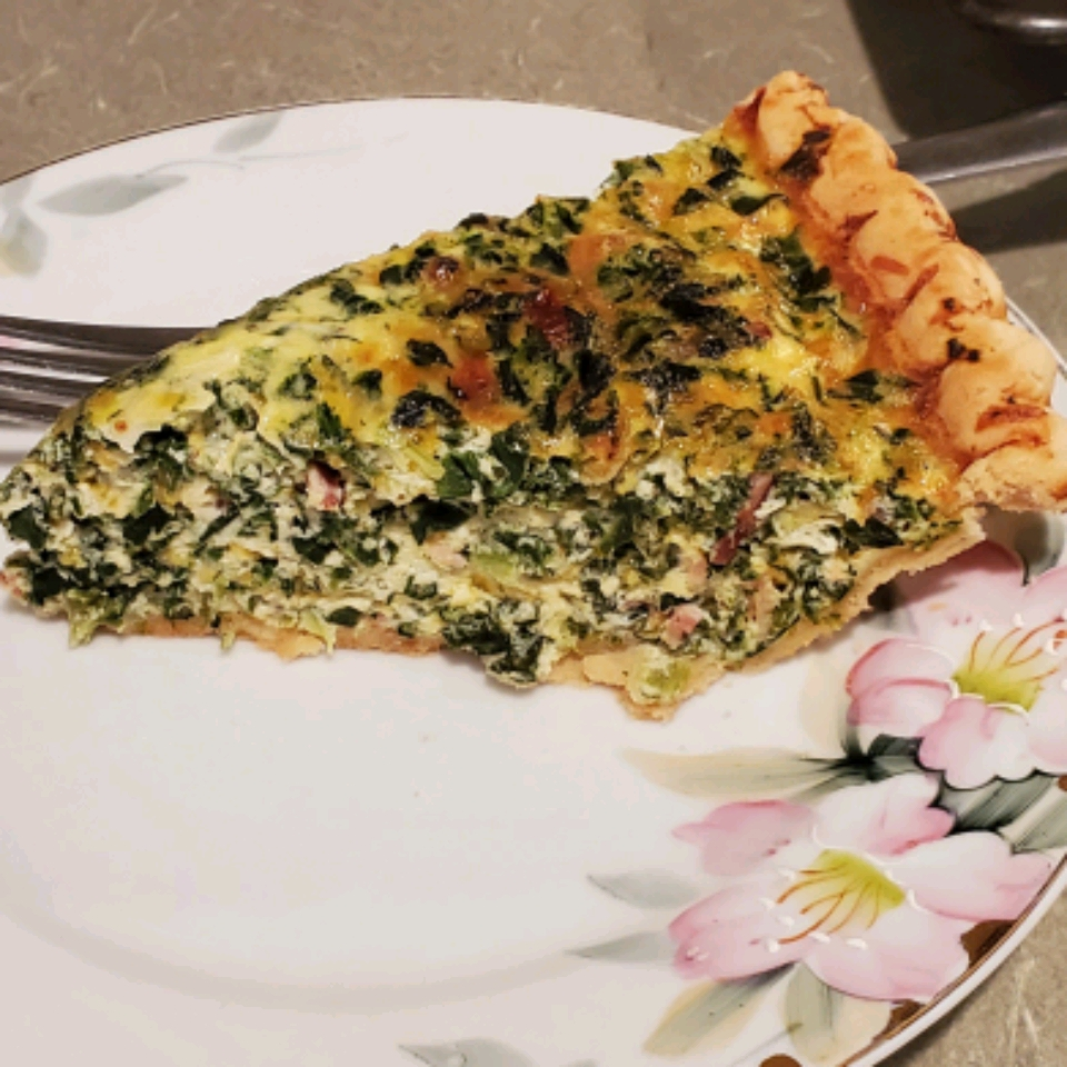 Belle and Chron's Spinach and Mushroom Quiche Deb Henshaw Lawrence