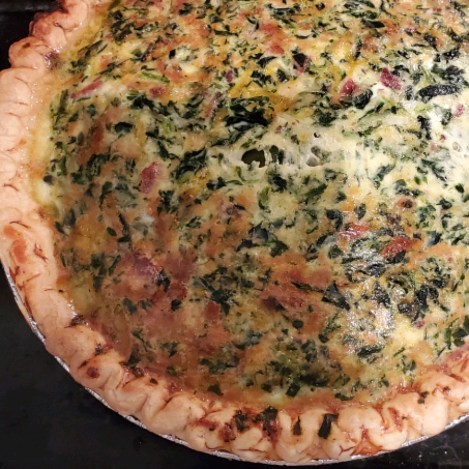 Belle and Chron's Spinach and Mushroom Quiche