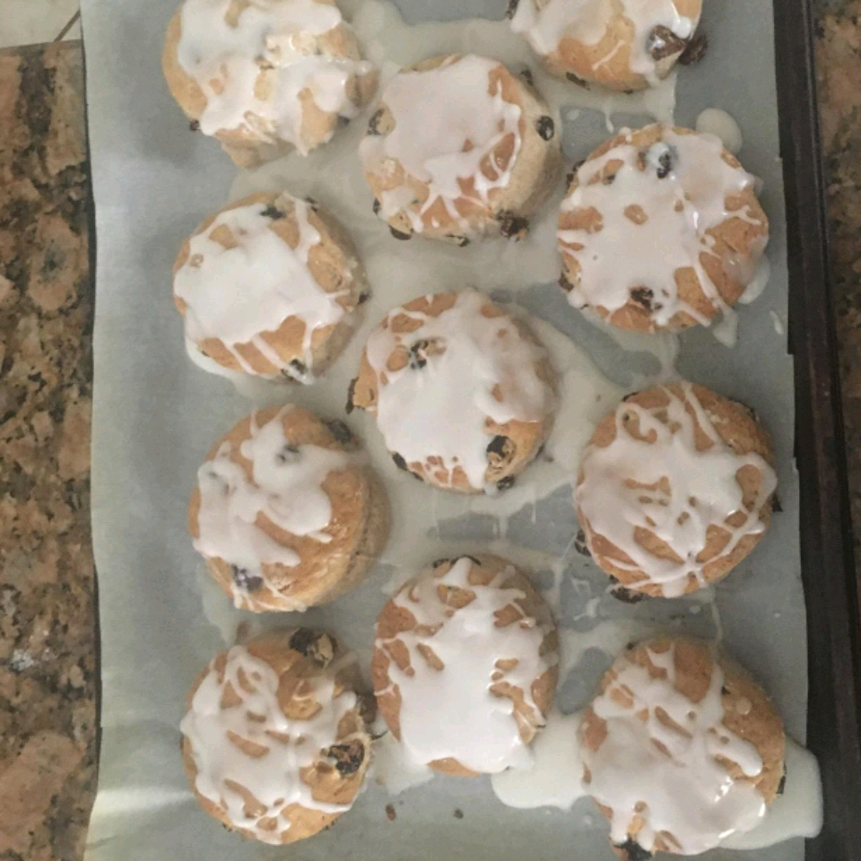 Iced Cinnamon Raisin Biscuits Mark