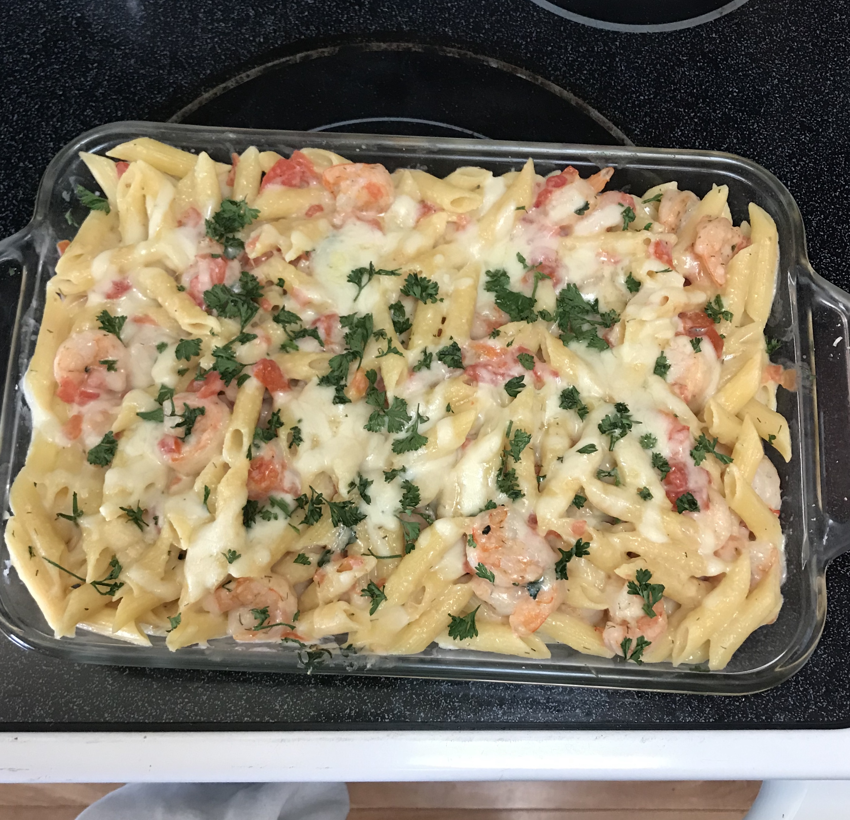 Garlic Shrimp Pasta Bake Christina Valdez