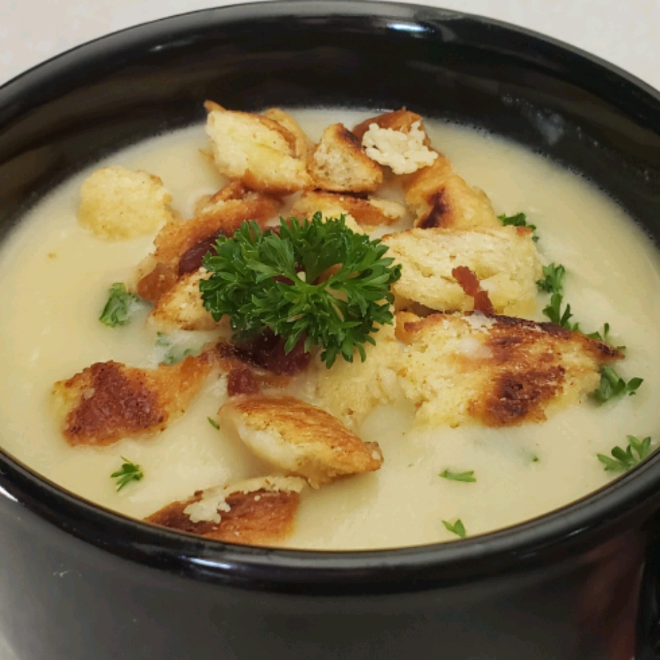 Cream of Cauliflower Soup With Bacon Gremolata Theresa Ferrer