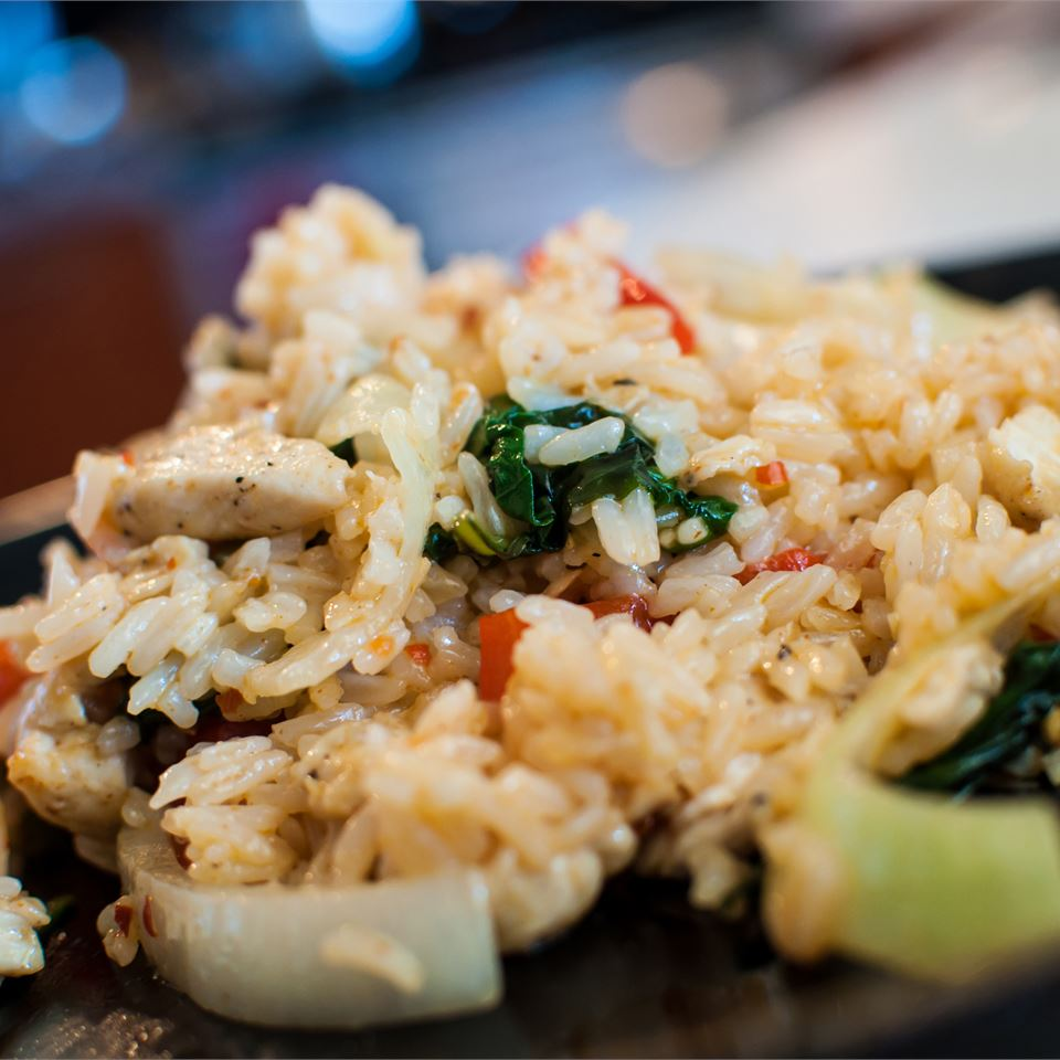Thai Spicy Basil Chicken Fried Rice Recipe Allrecipes