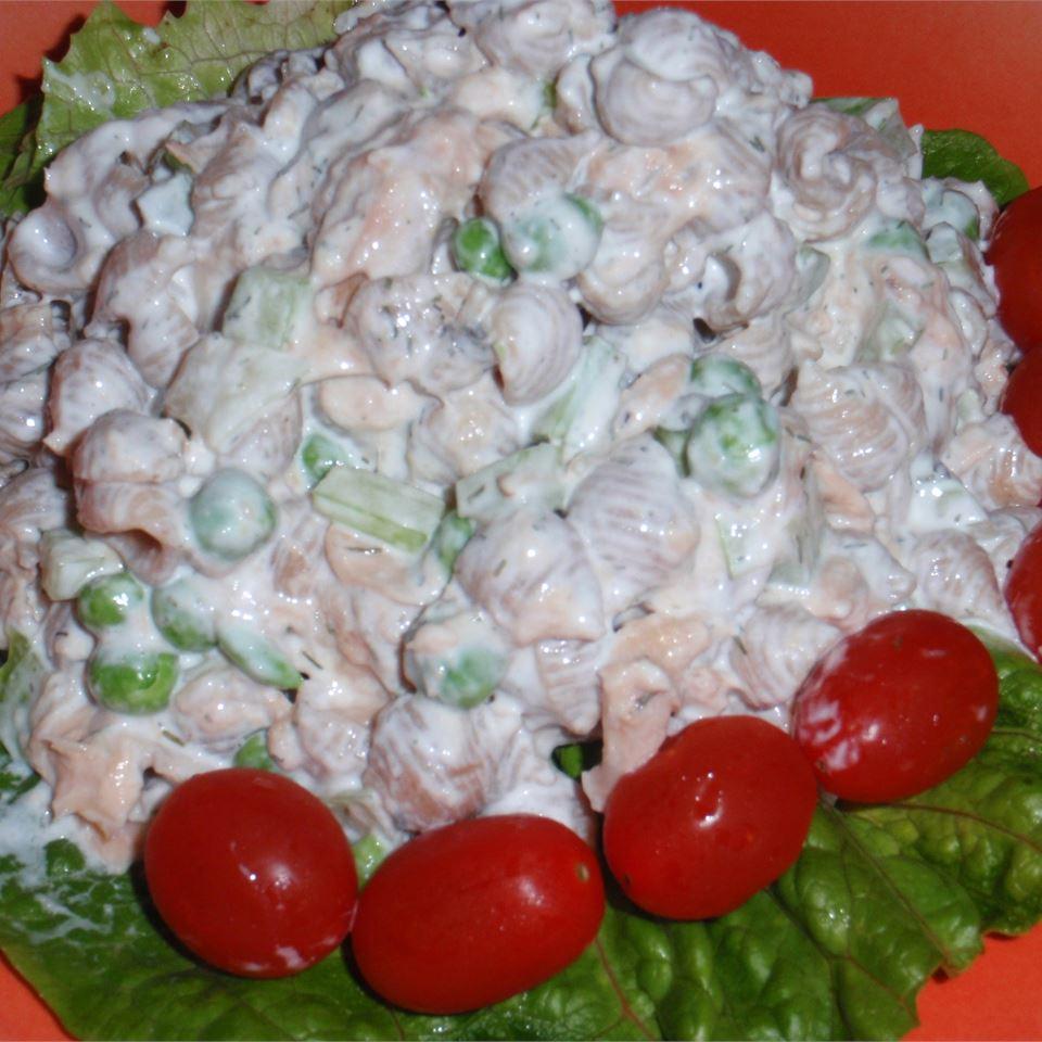 Easy Salmon Whole Wheat Pasta Salad