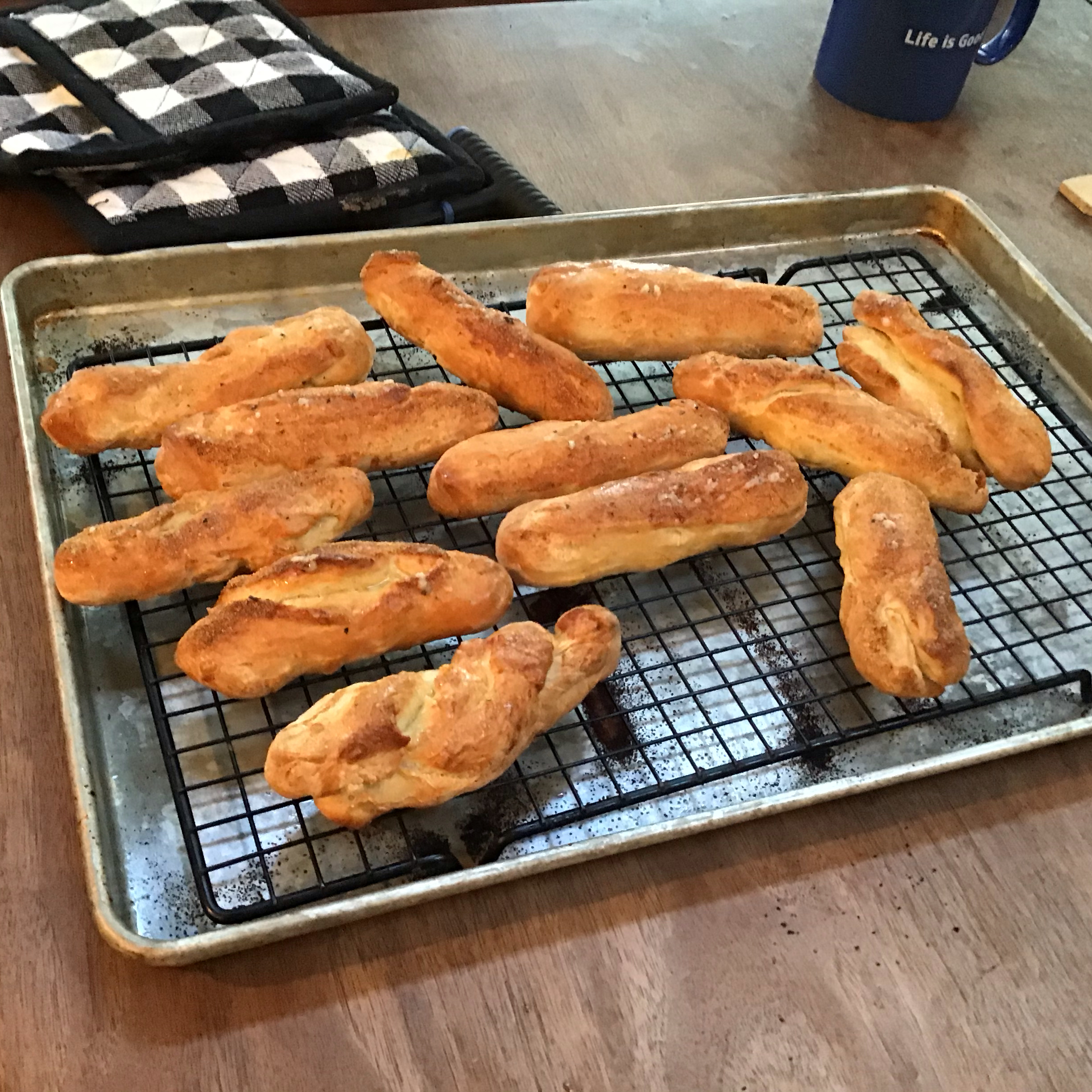 Breadsticks with Parmesan Butter