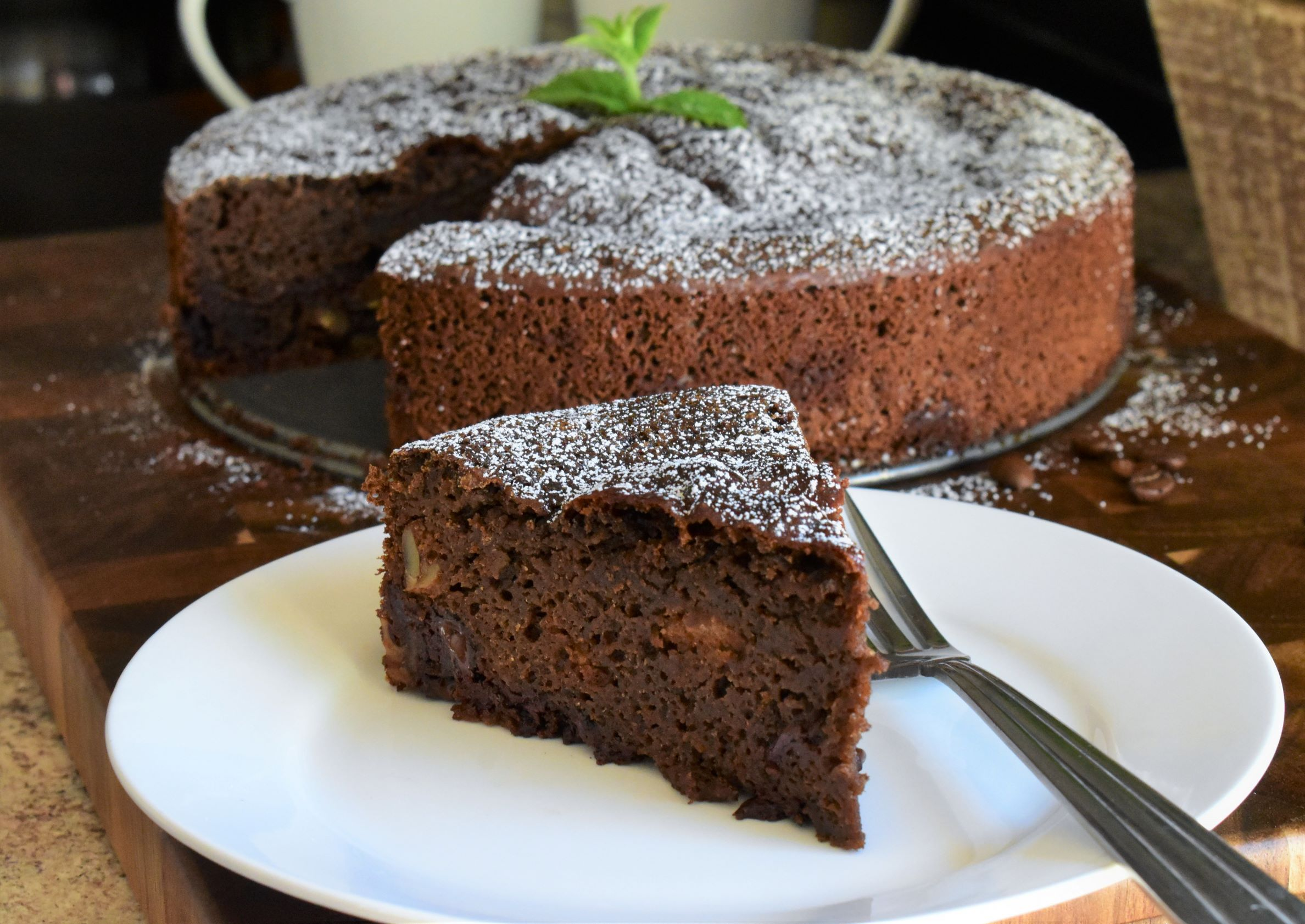 Whole Wheat Chocolate-Coffee Cake