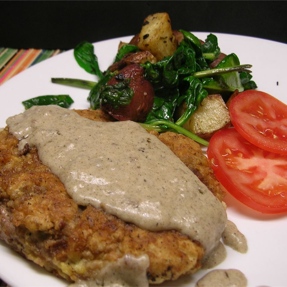 Country Fried Steak and Milk Gravy