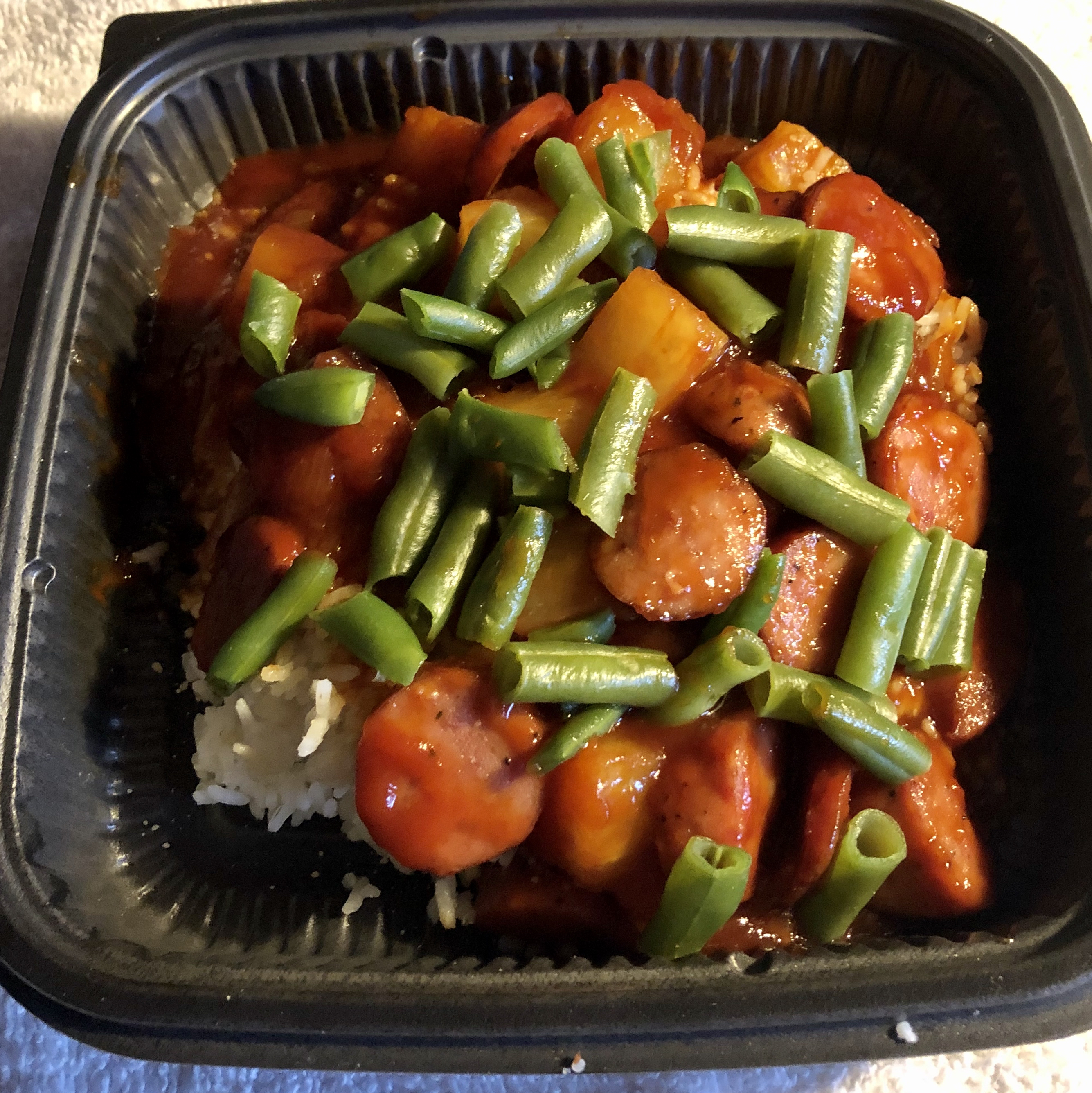 Island Kielbasa in a Slow Cooker