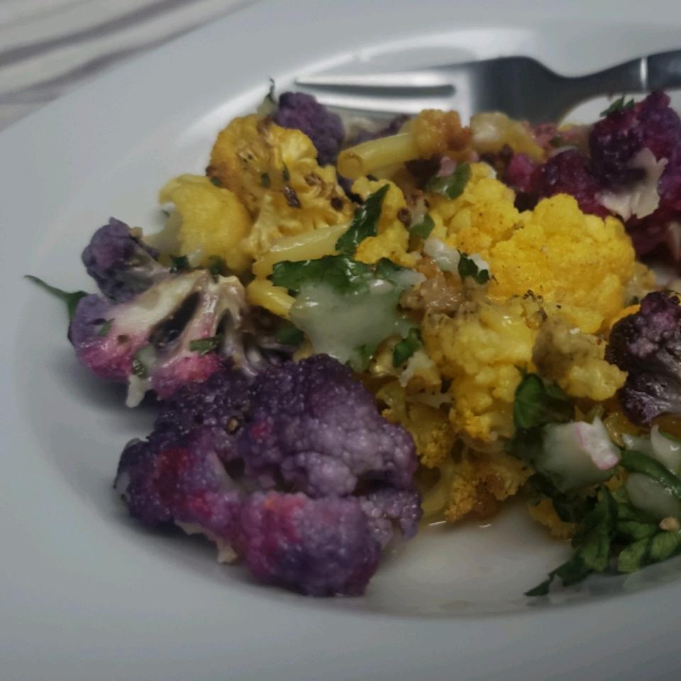 Roasted Garlic Cauliflower Cynthia B