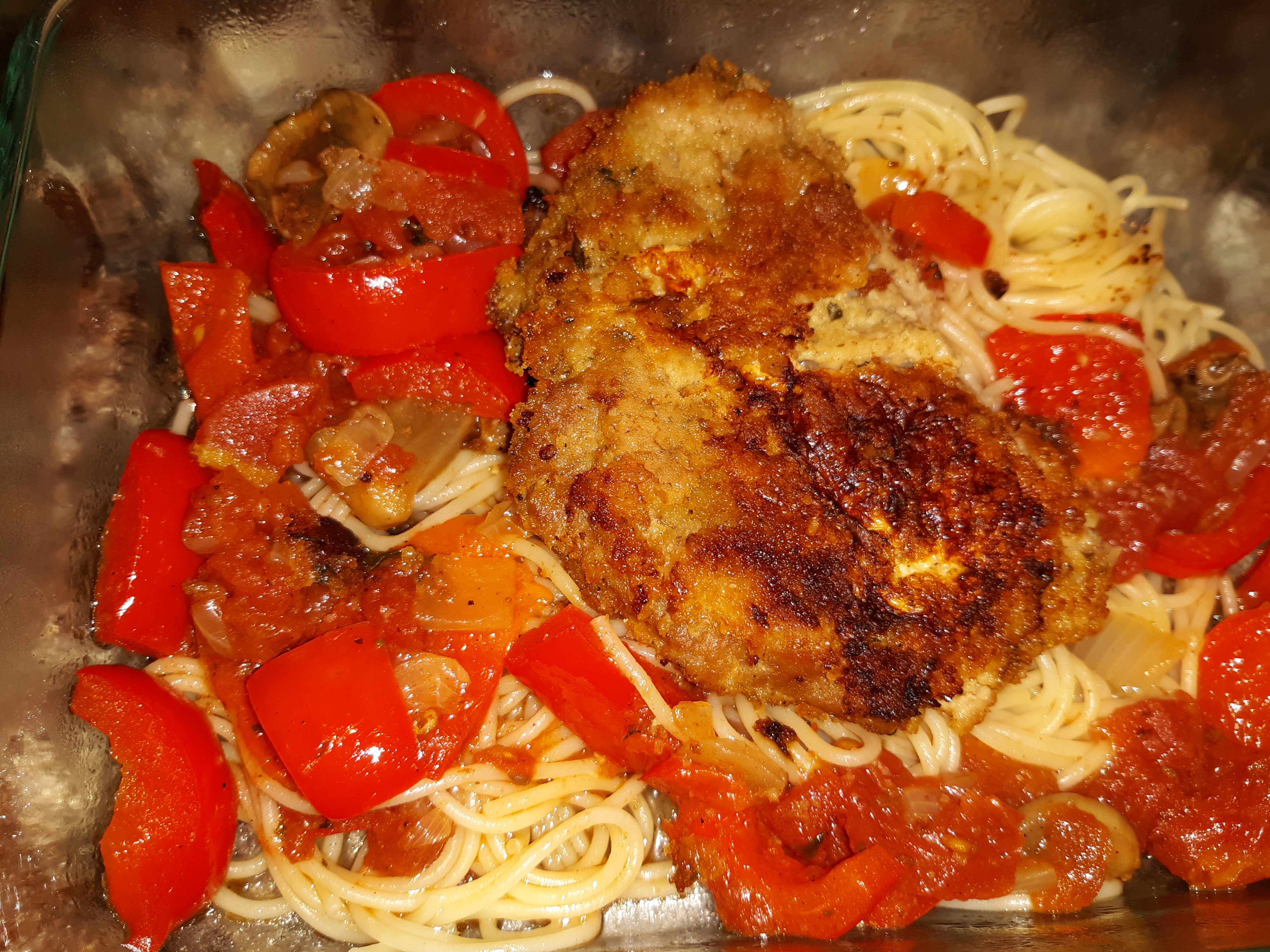Veal Scallopini in a Sweet Red Pepper Sauce CarasMom