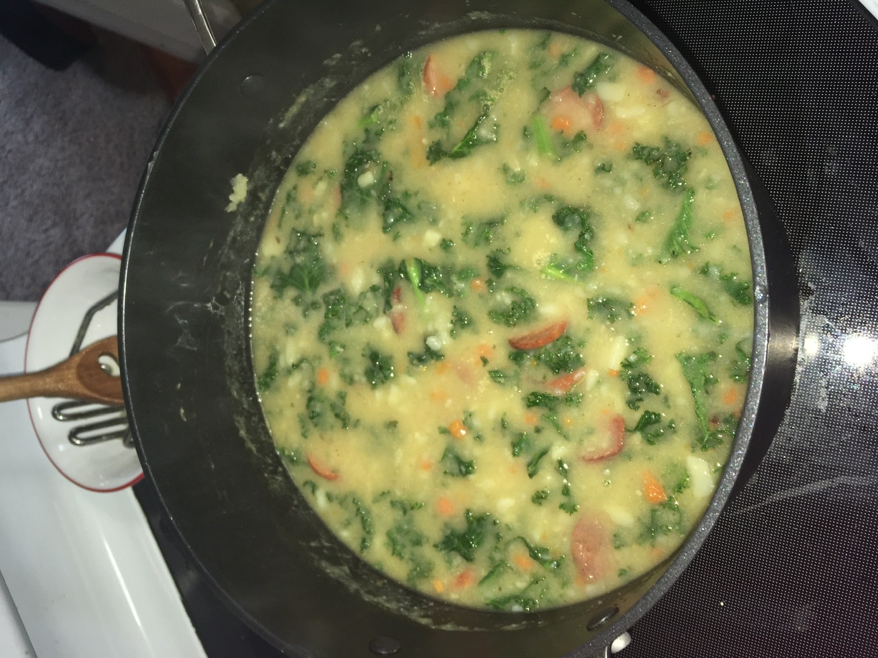 Caldo Verde (Portuguese Sausage Kale Soup)