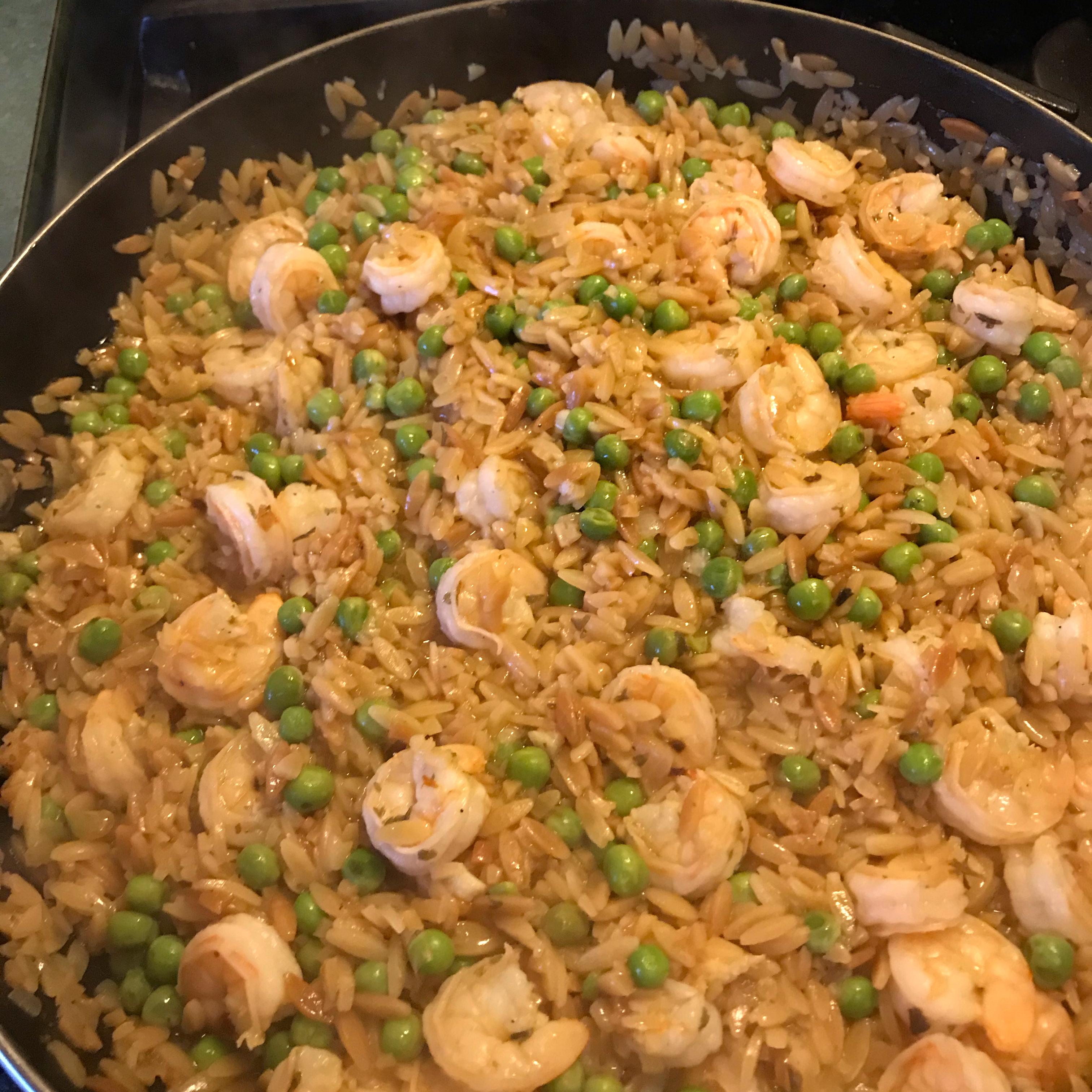 One-Pot Shrimp Scampi Orzo