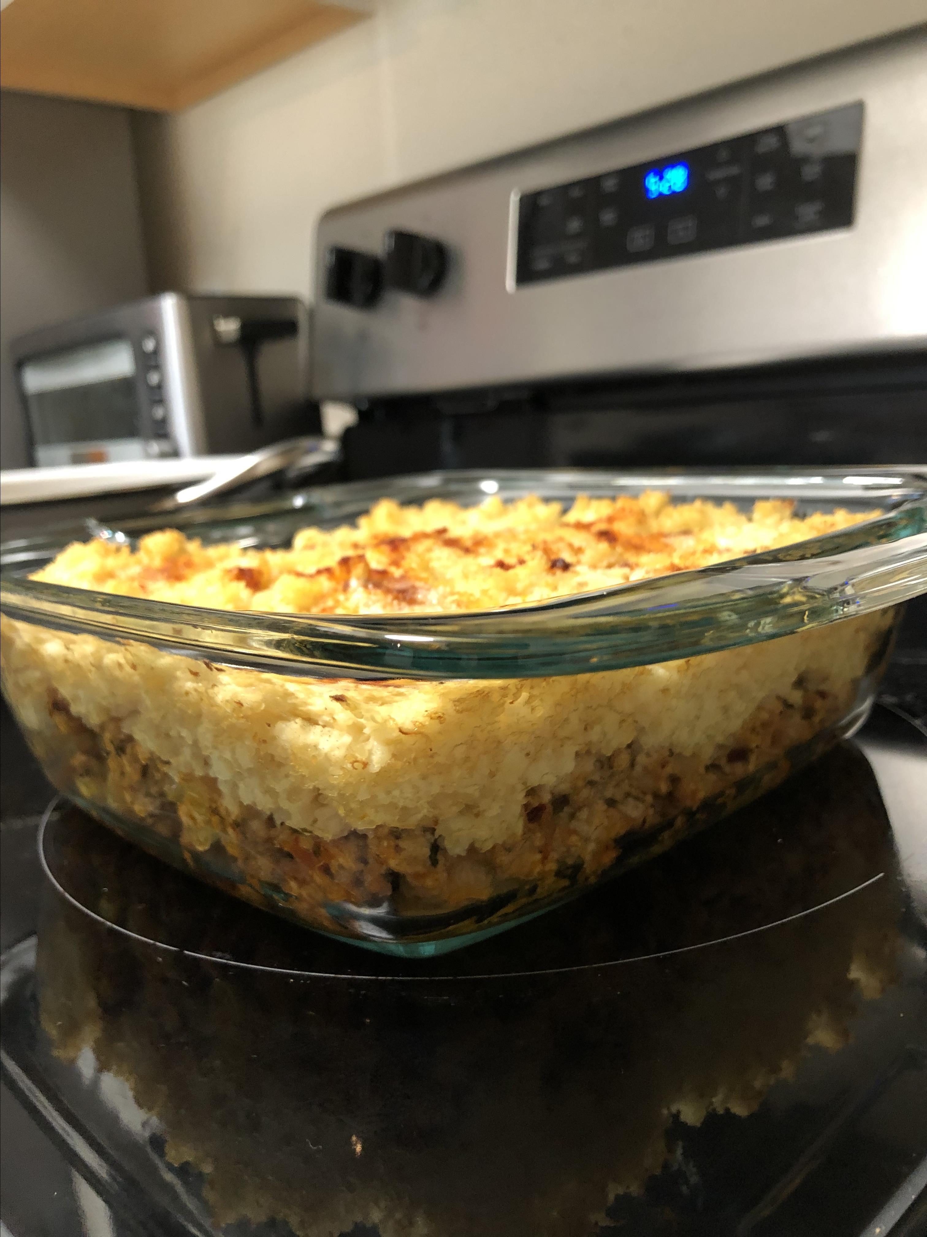 Healthy Shepherd's Pie with Cauliflower Mash Mary Anne