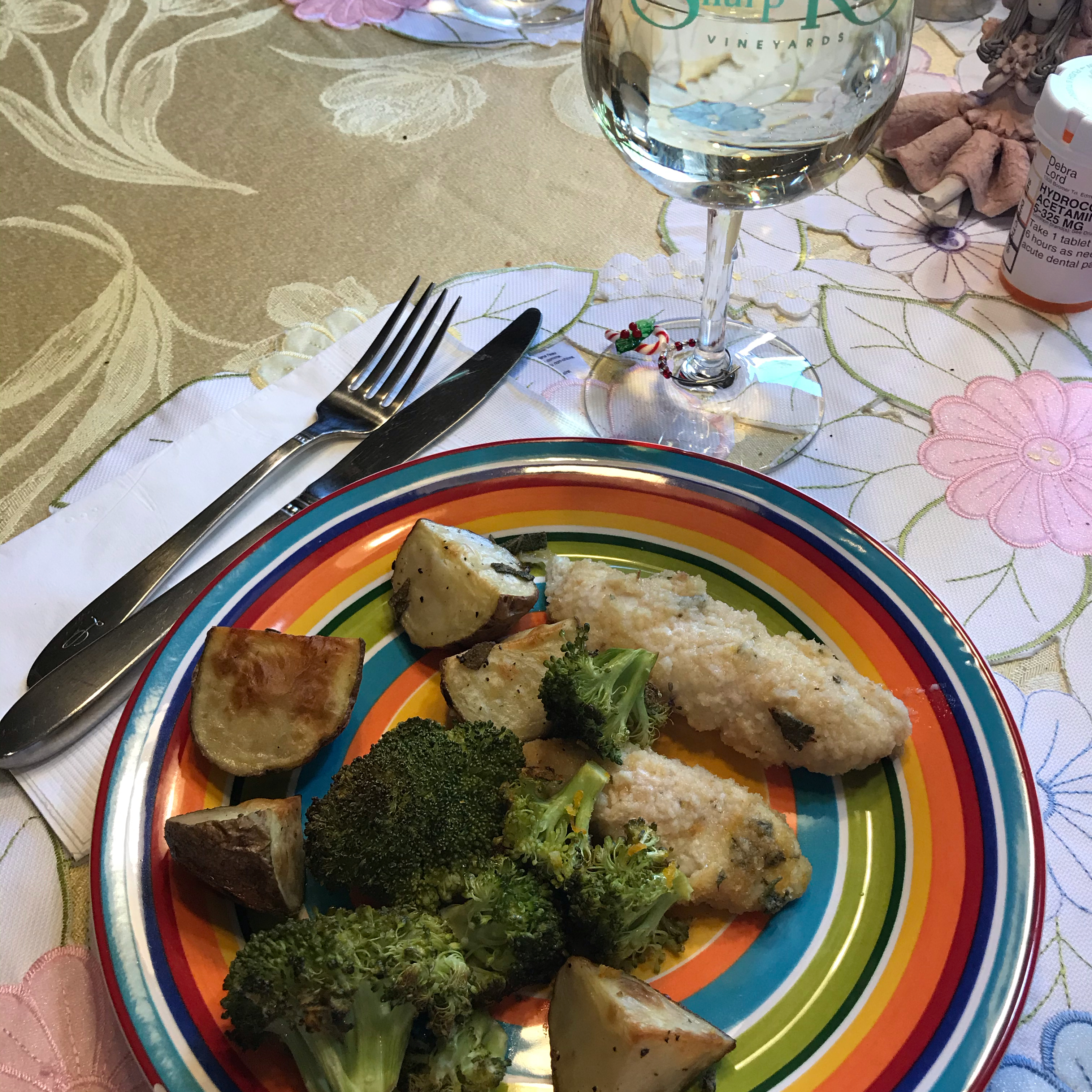 Sheet Pan Citrus and Sage Chicken with Roasted Broccoli and Potatoes