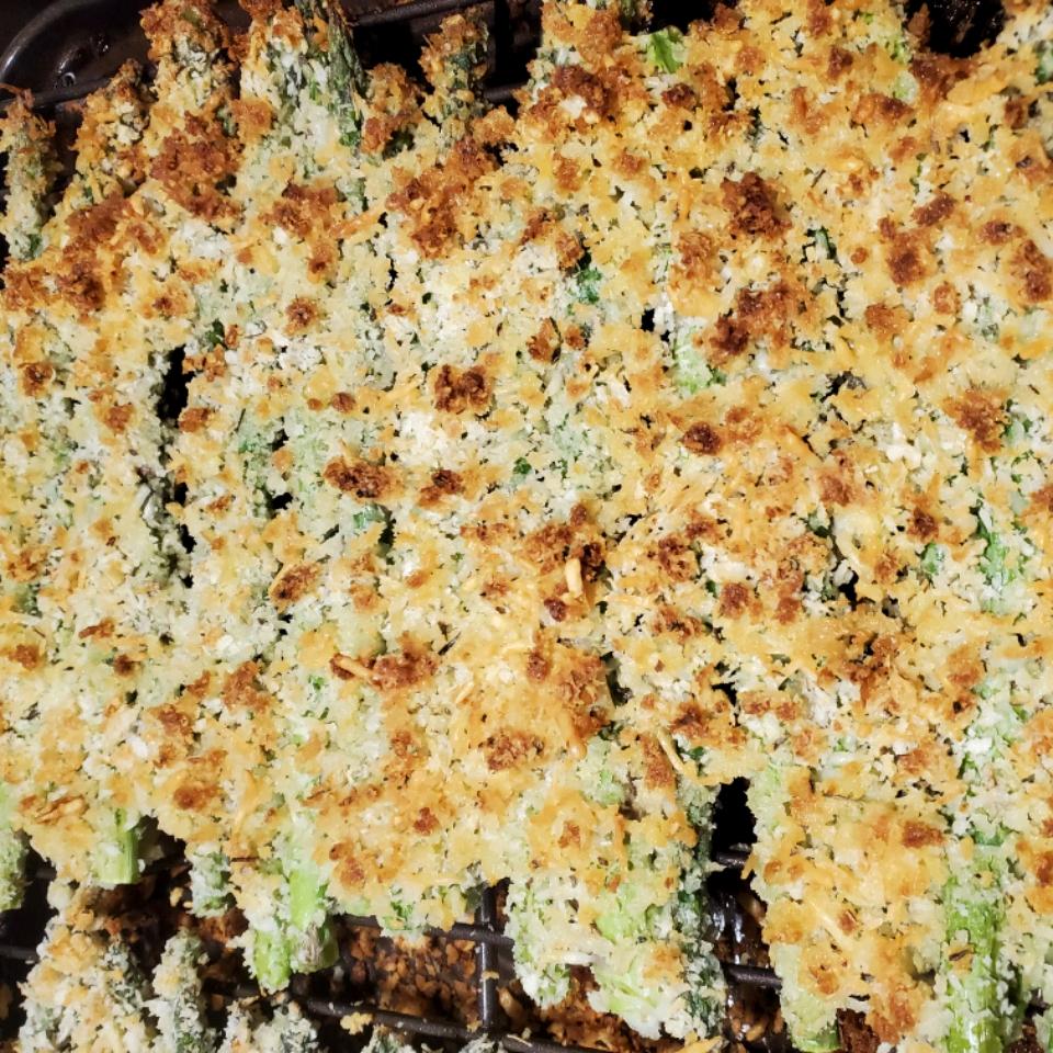 Parmesan-Panko Asparagus Spears Jenny Figuerres