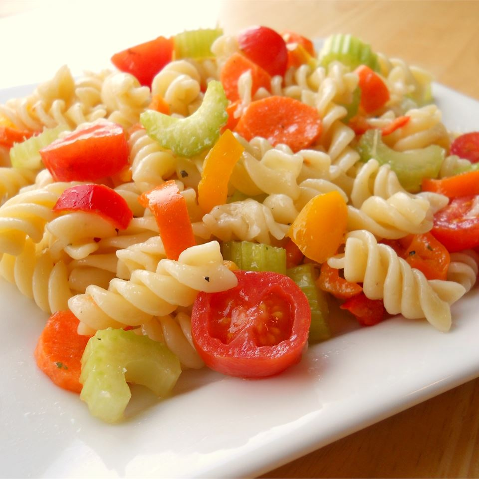 Zesty Rotini Salad CookinBug