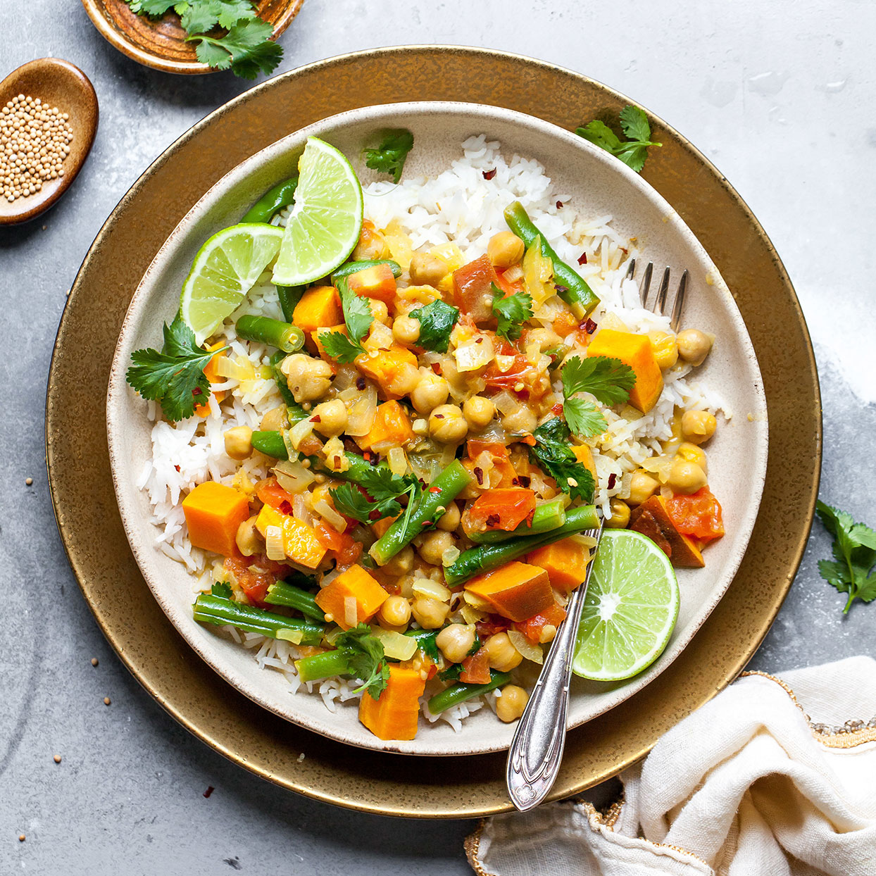 One-Pot Coconut Milk Curry with Chickpeas Carolyn Casner