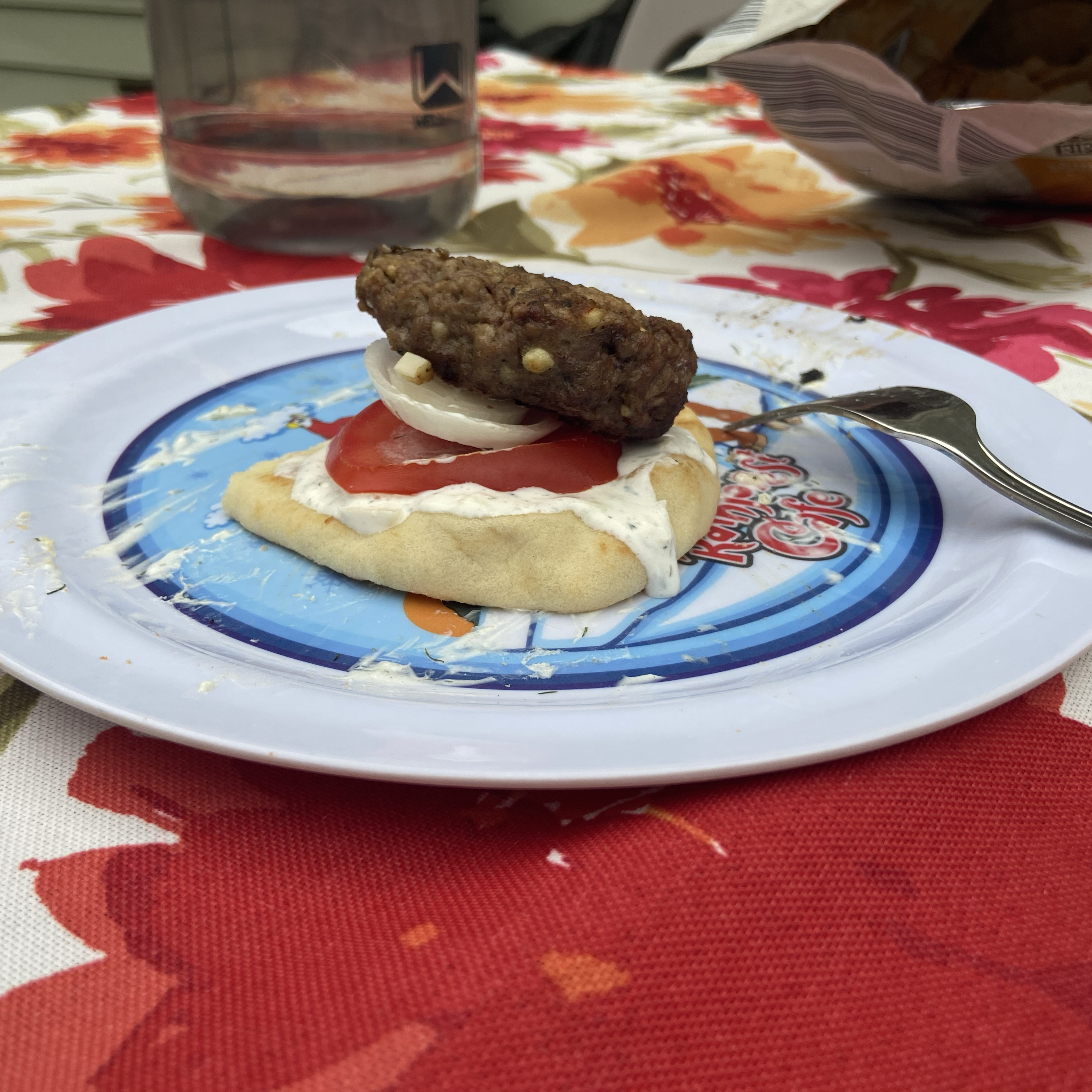 Greek Lamb-Feta Burgers With Cucumber Sauce