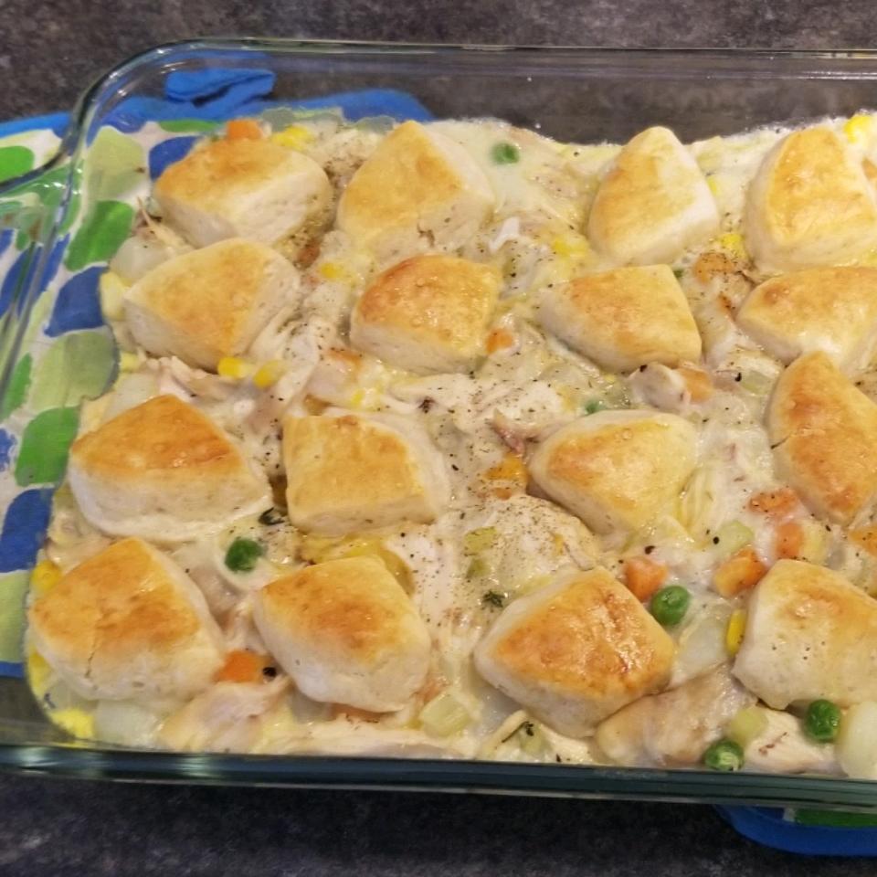 Mom's Fabulous Chicken Pot Pie with Biscuit Crust