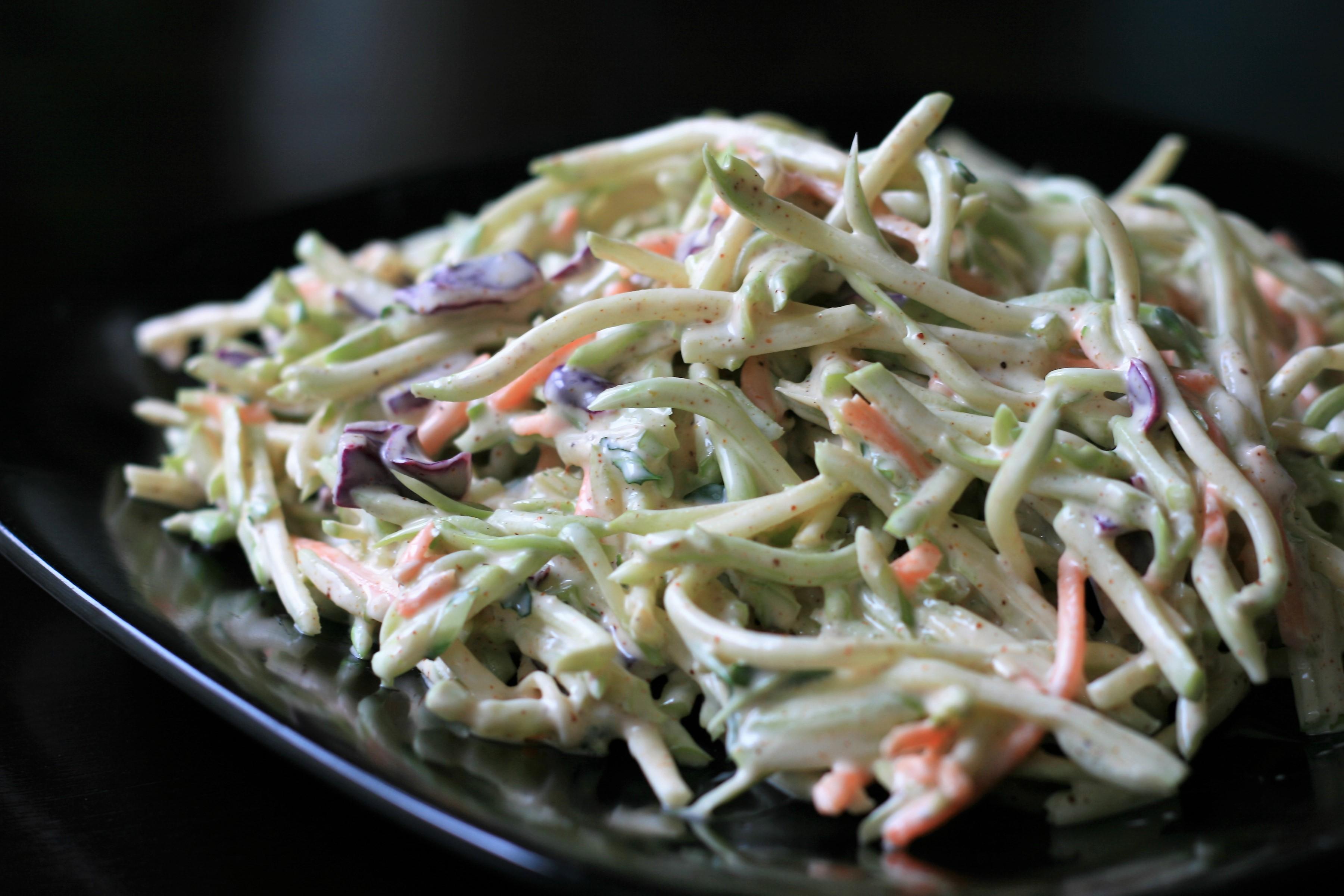 Broccoli Slaw with Spicy Dressing