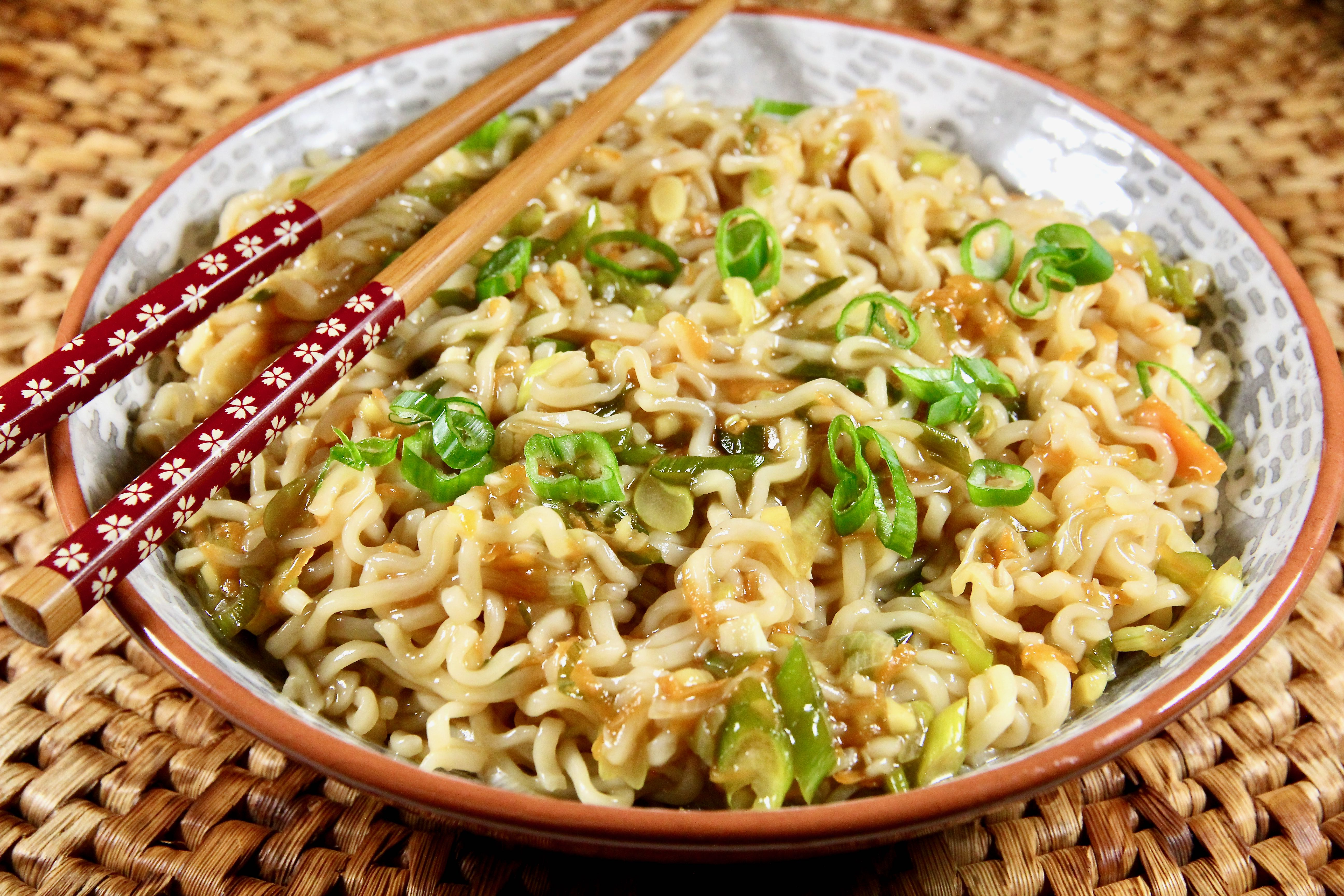 Ginger-Scallion Ramen Noodles