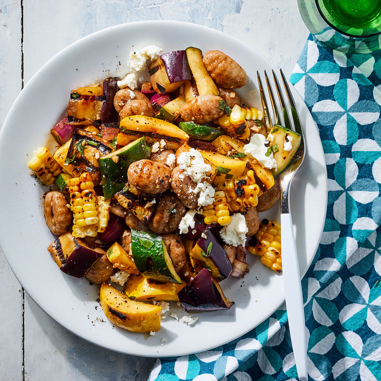 This riff on pasta salad is best served warm while the gnocchi are nice and tender. Plus, the grilled veggies taste extra-good fresh off the fire in this easy gnocchi recipe. Source: EatingWell Magazine, June 2020