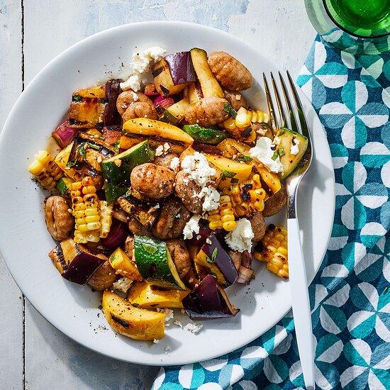 Summer Vegetable Gnocchi Salad Devon O'Brien