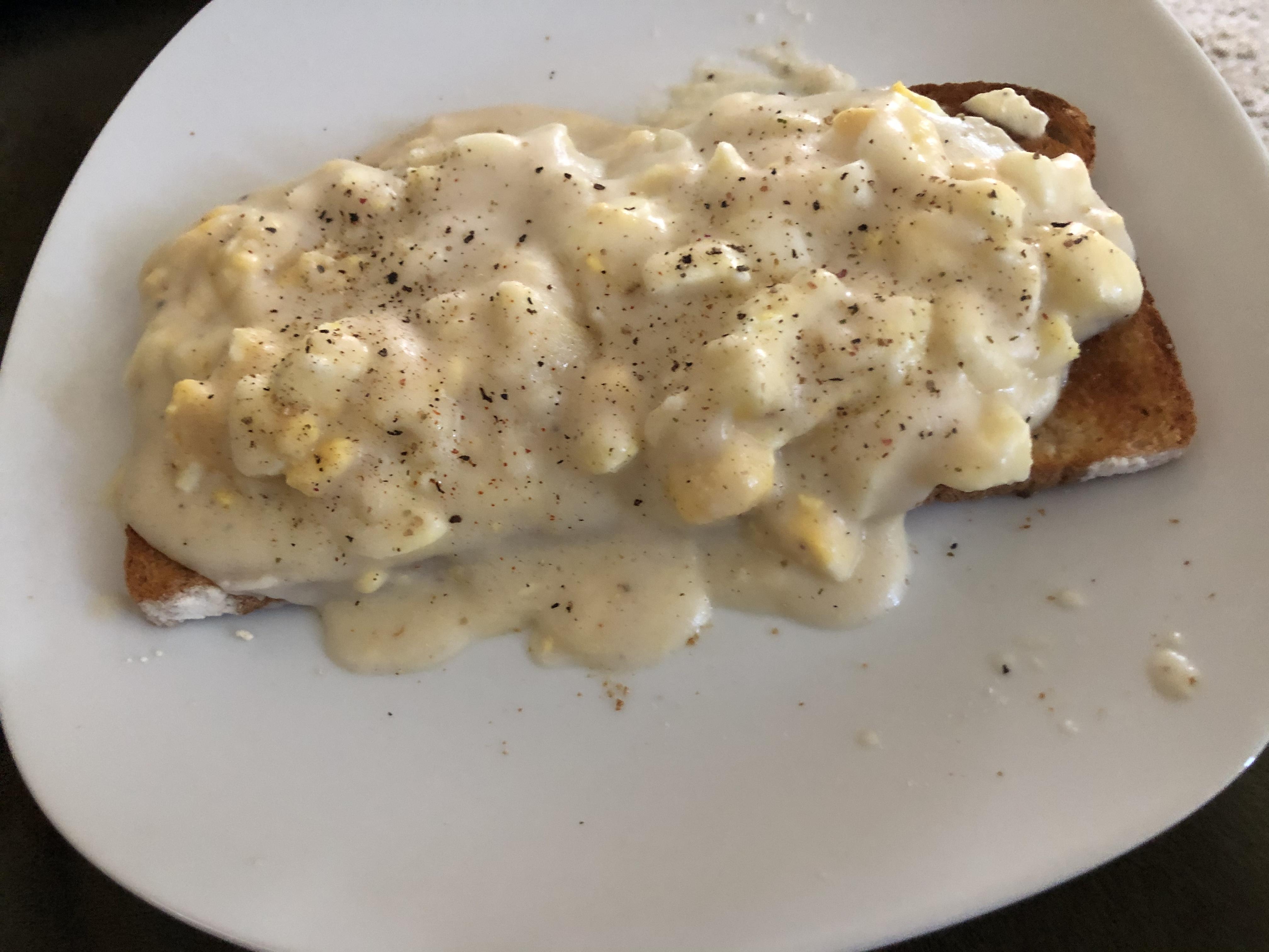 Creamed Eggs on Toast TR21