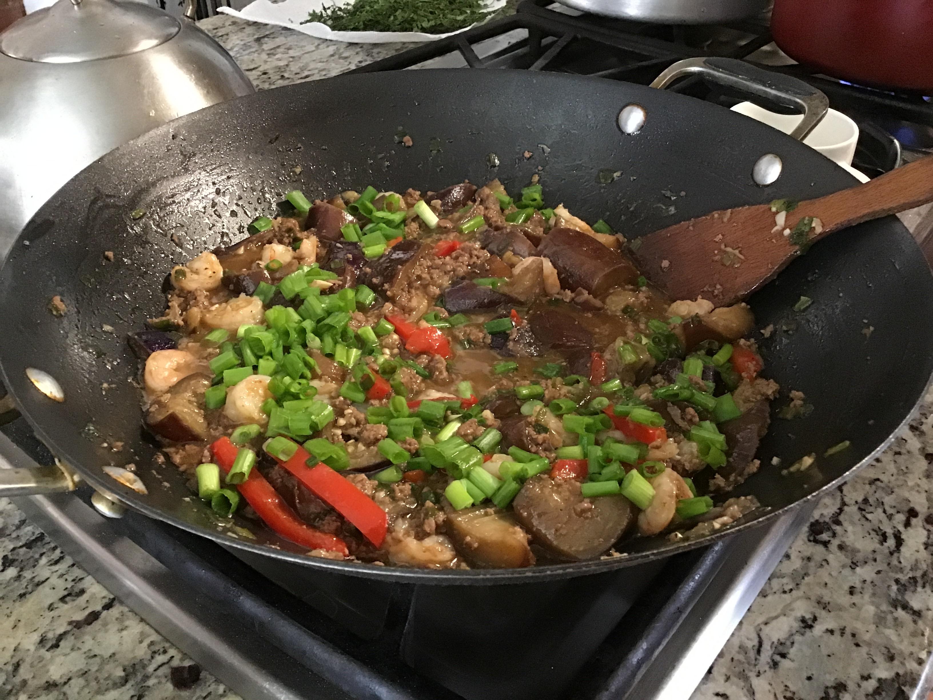 Szechuan Spicy Eggplant