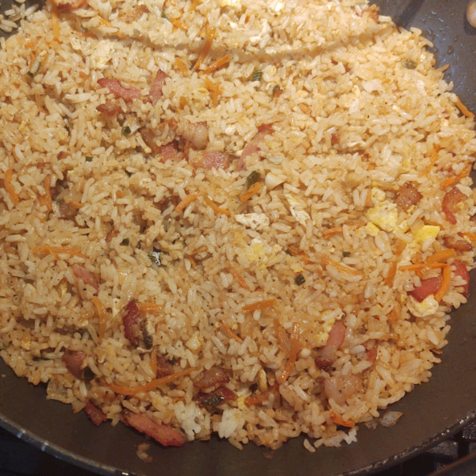 Easy Bacon Fried Rice Red23fox