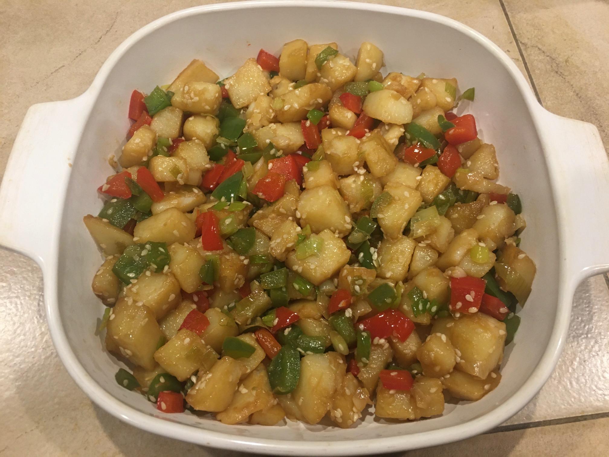 Fiery Red Pepper Potatoes