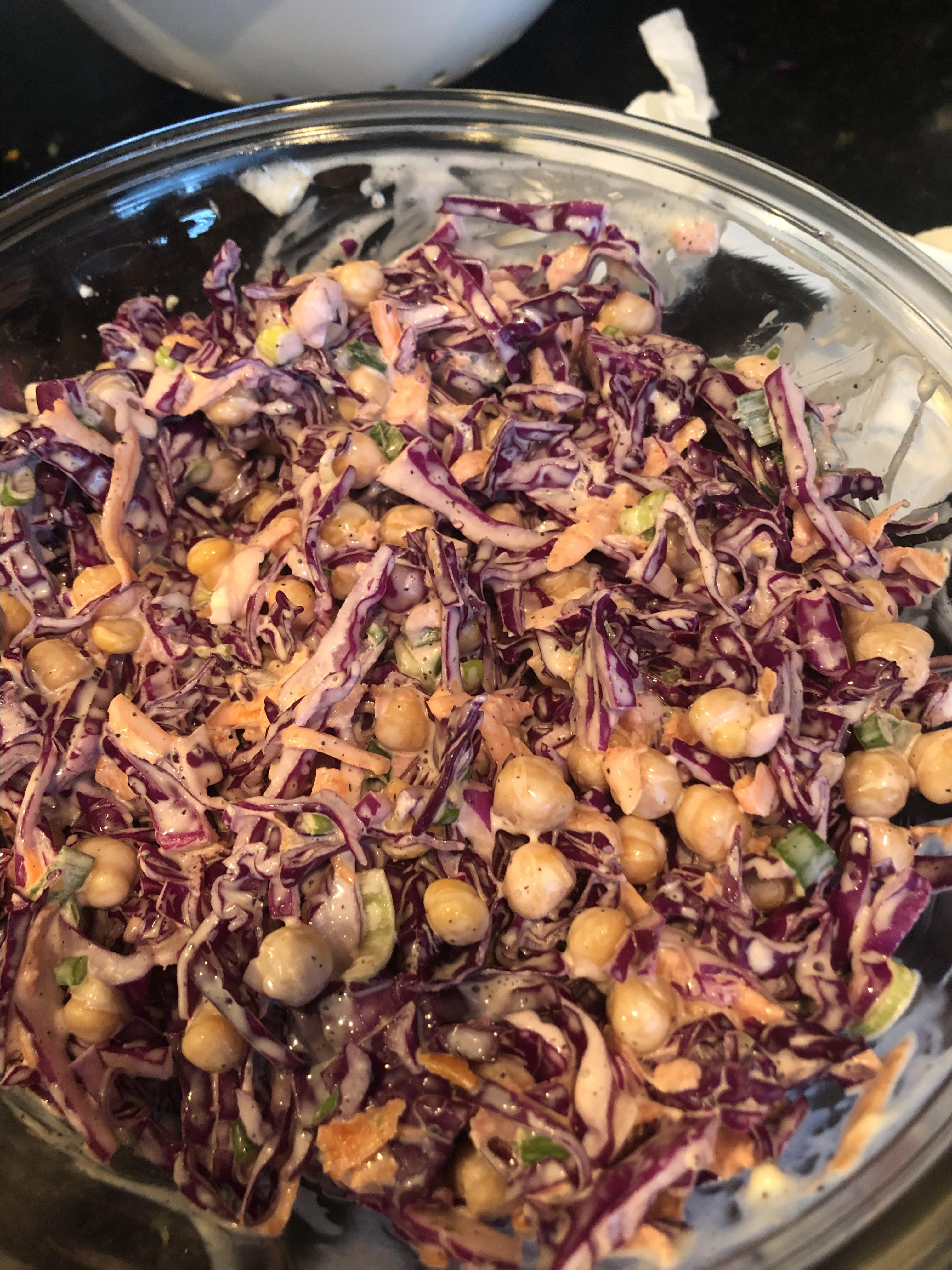 Red Cabbage and Chickpea Salad