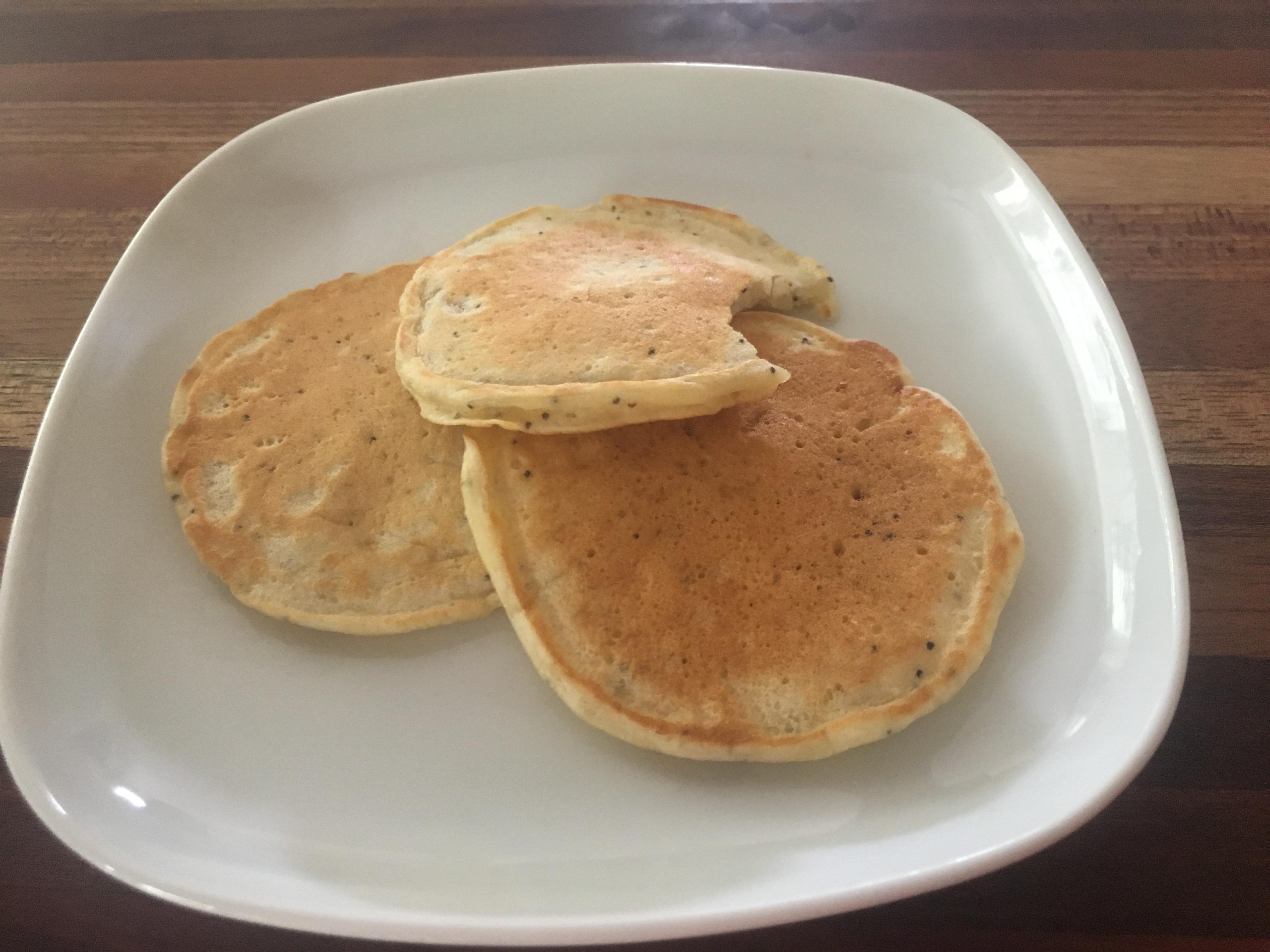 Sunday Morning Lemon Poppy Seed Pancakes theowl