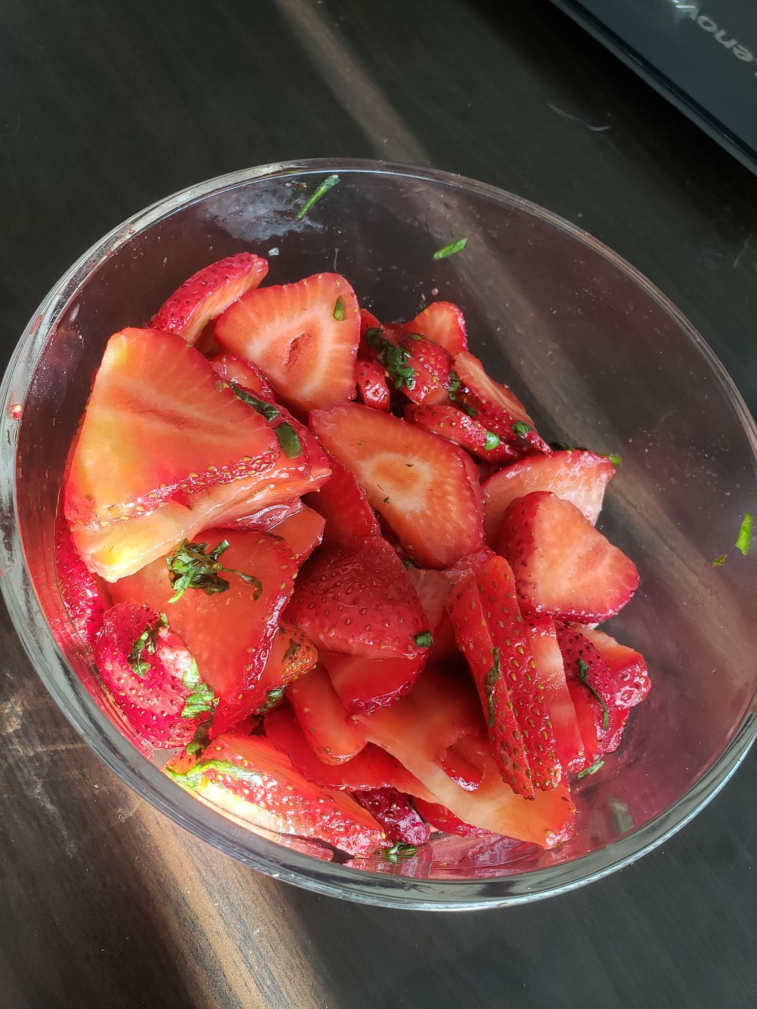 Lemon-Basil Strawberry Salad Jen Shinn