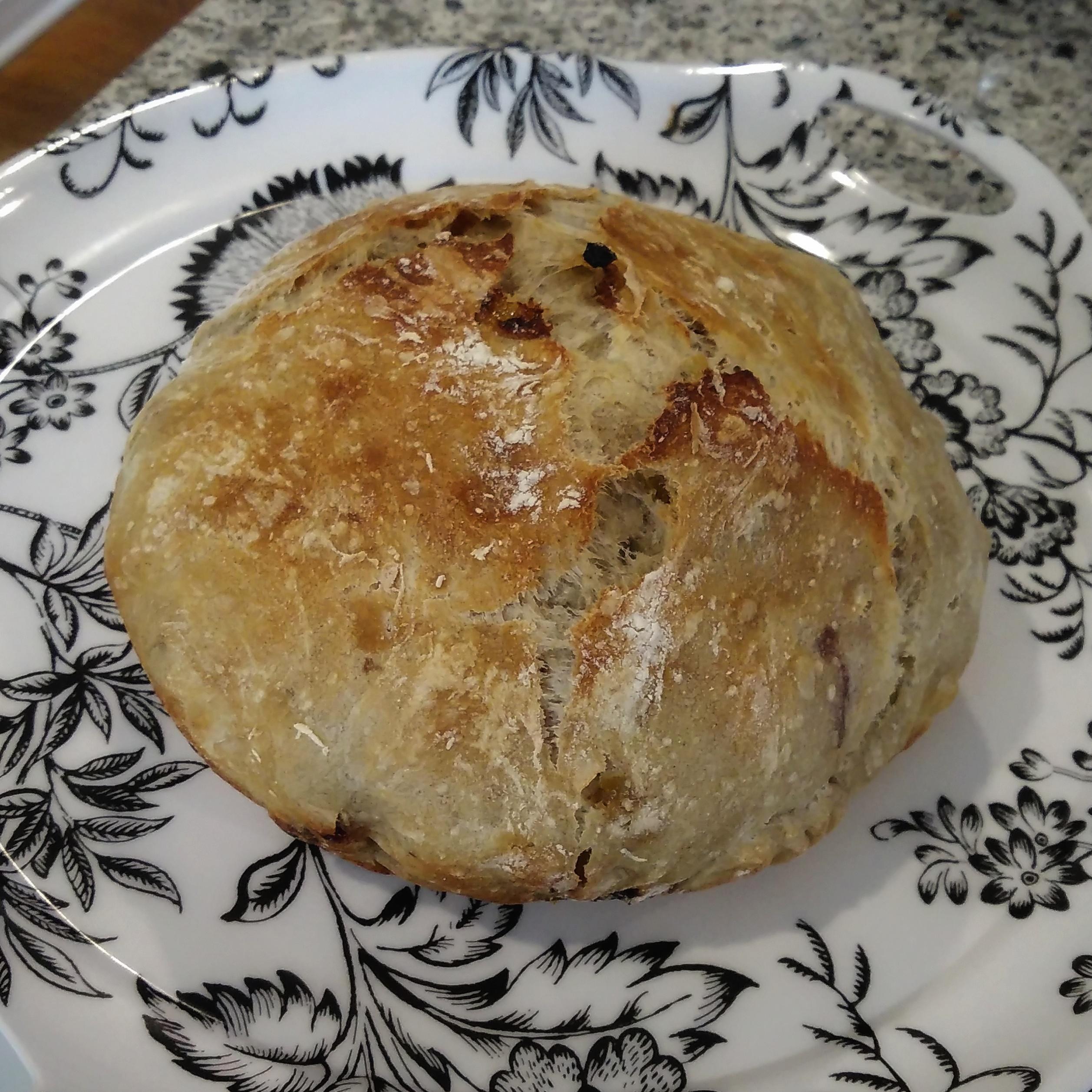 No-Knead Cinnamon and Raisin Bread
