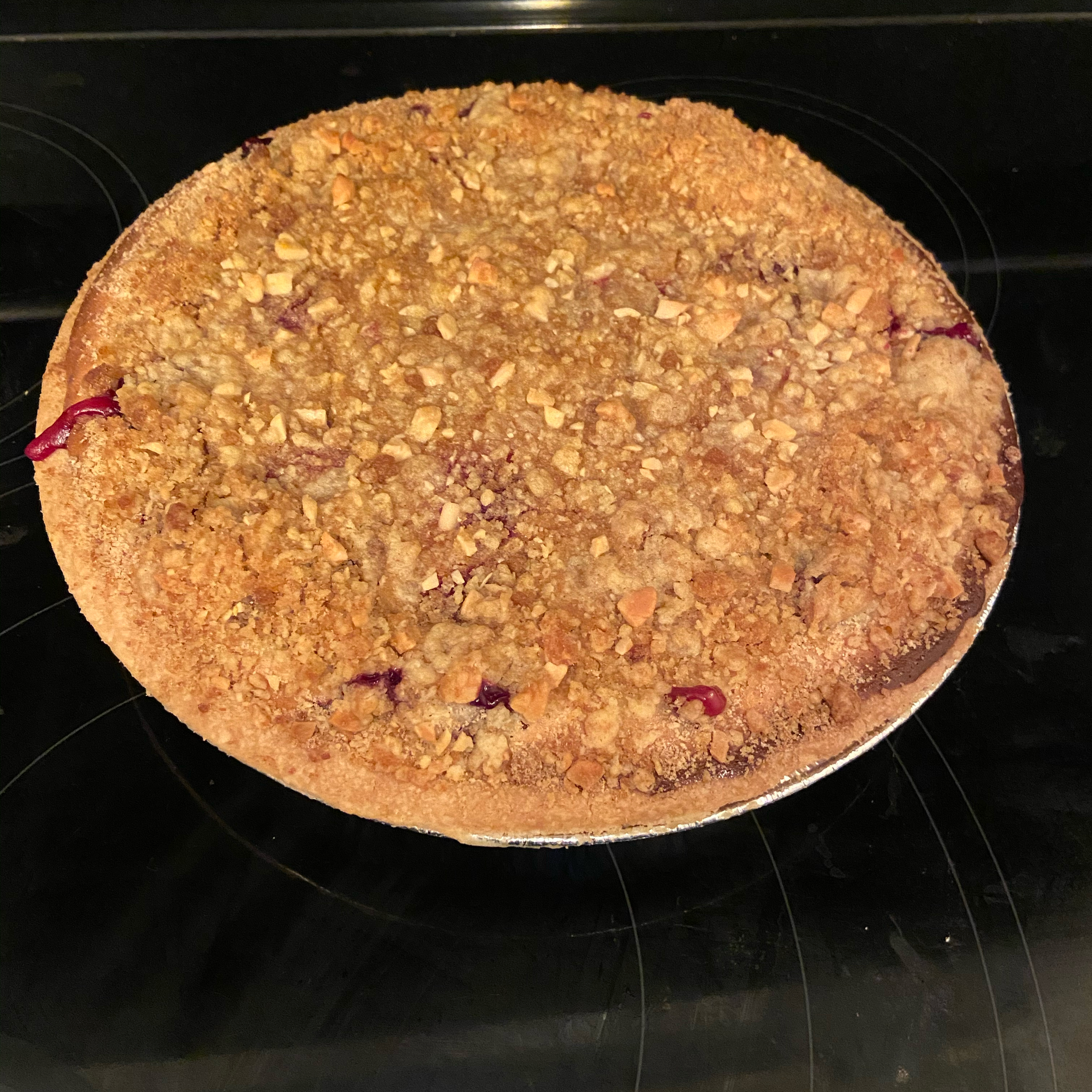 Raspberry Sour Cream Pie Kelly Sanderson
