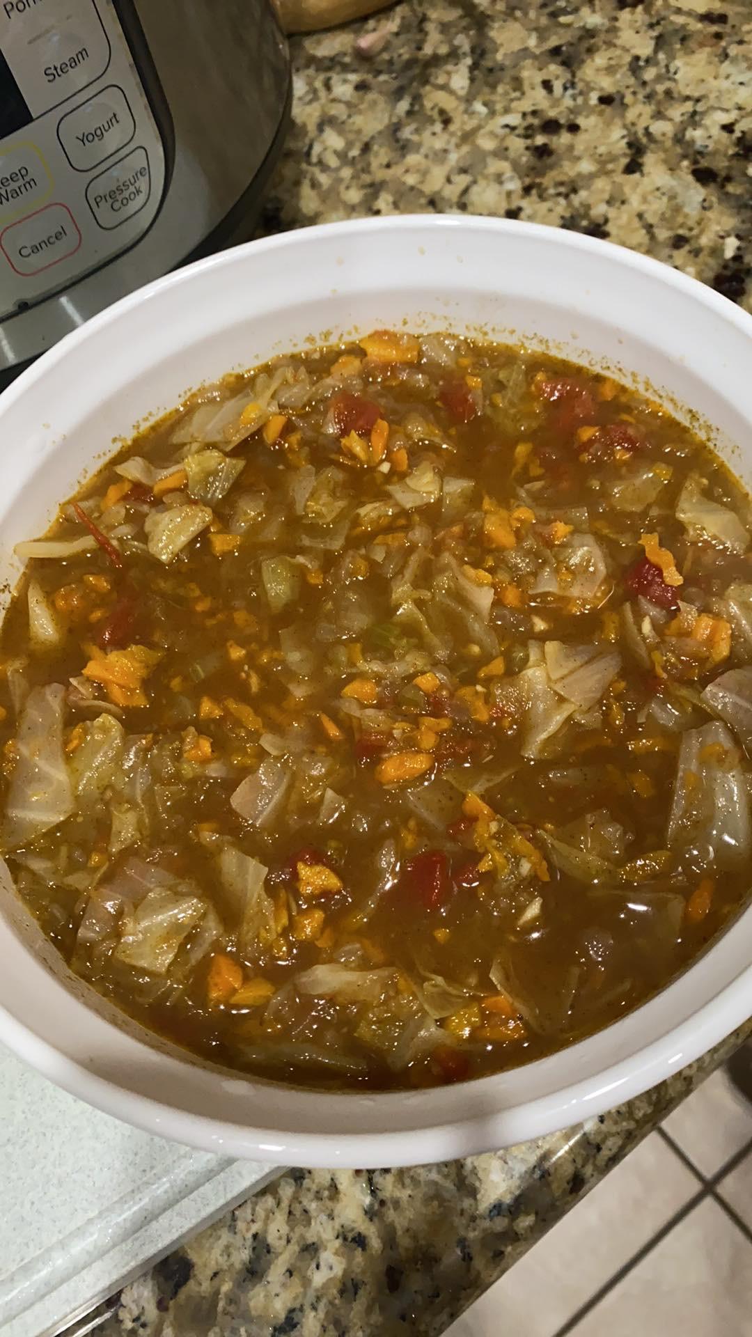 Instant Pot® Vegan Cabbage Detox Soup Diane Vitoria