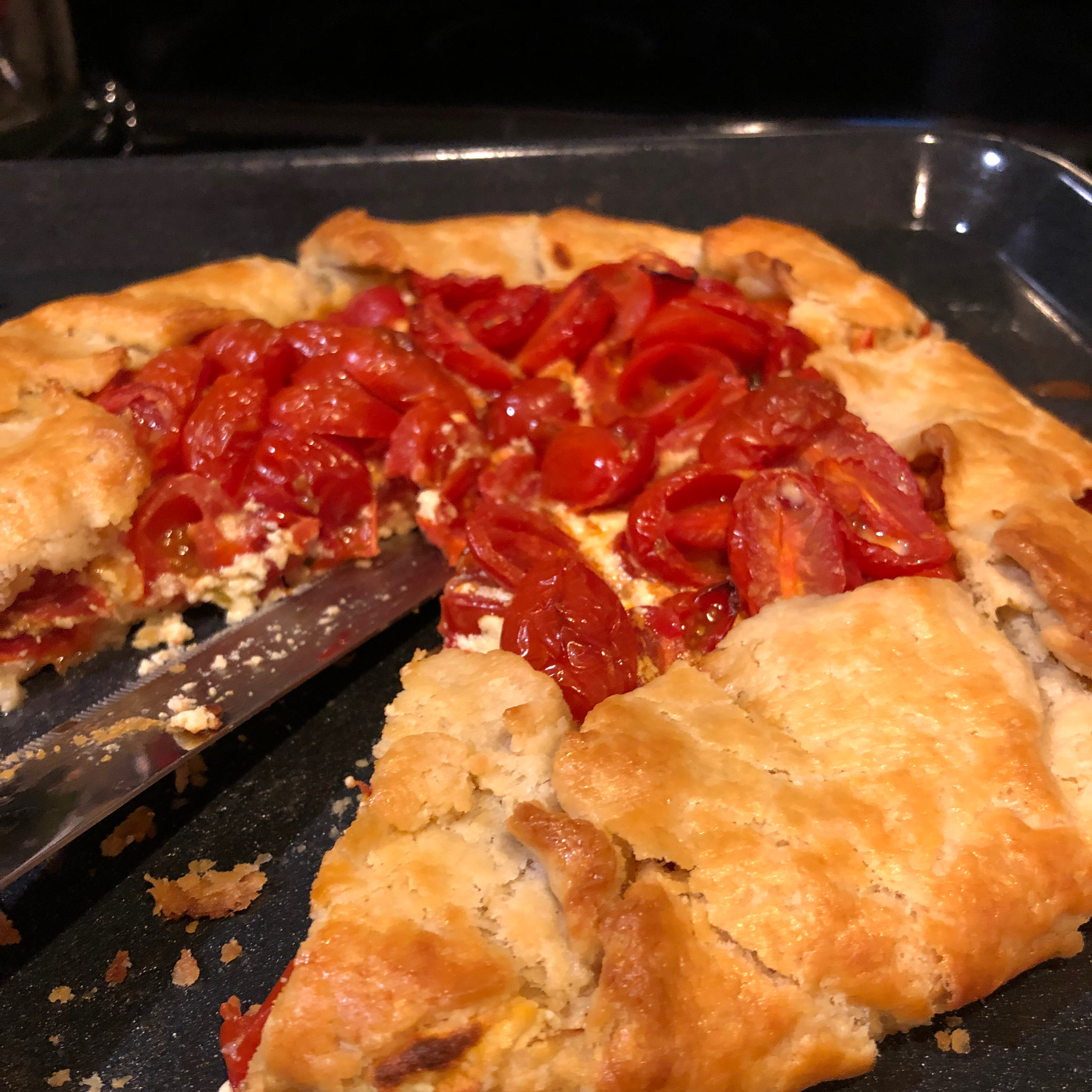 Cherry Tomato and Cheese Galette