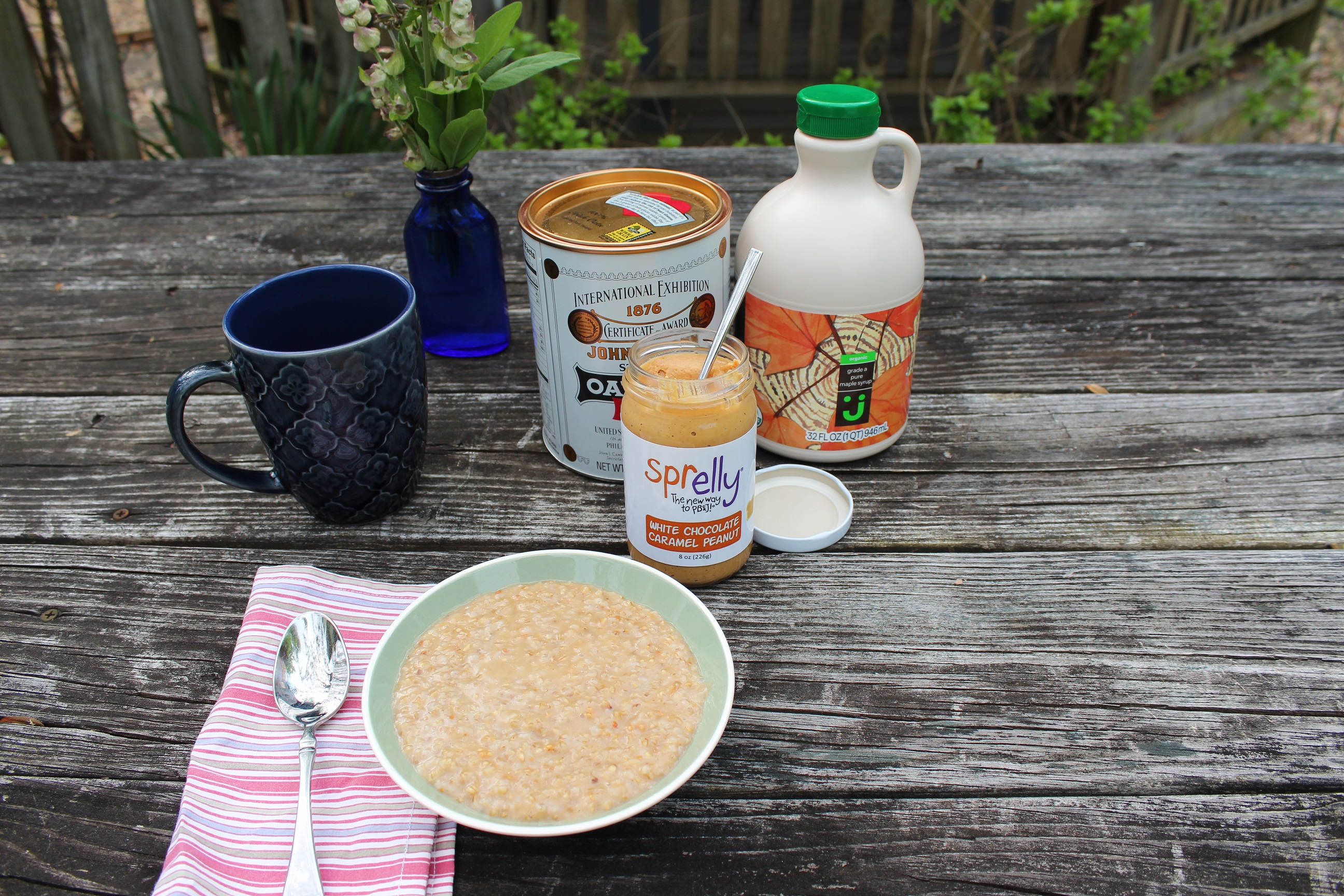 Peanut Butter and Maple Oatmeal