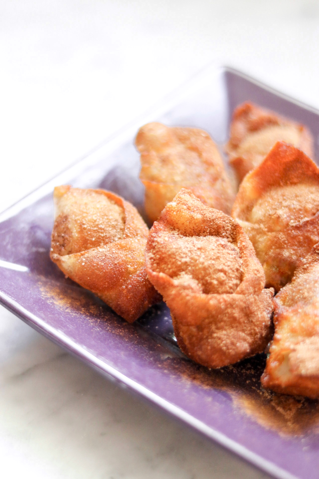 Cinnamon Sugar Cream Cheese Wontons
