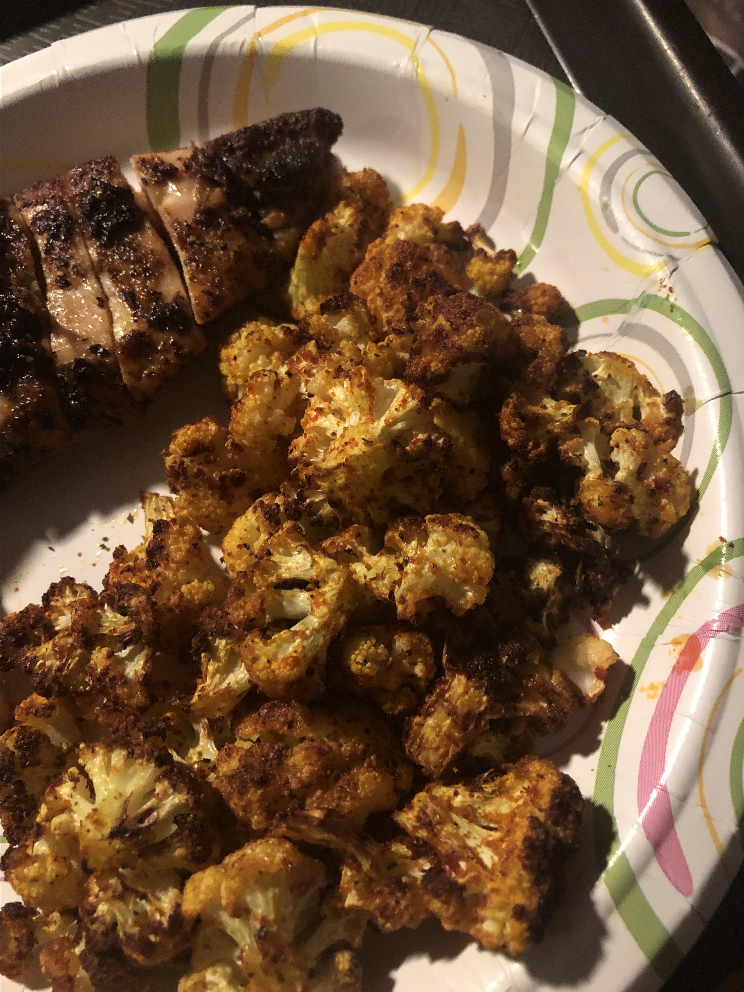 Cauliflower Popcorn Karla Moss