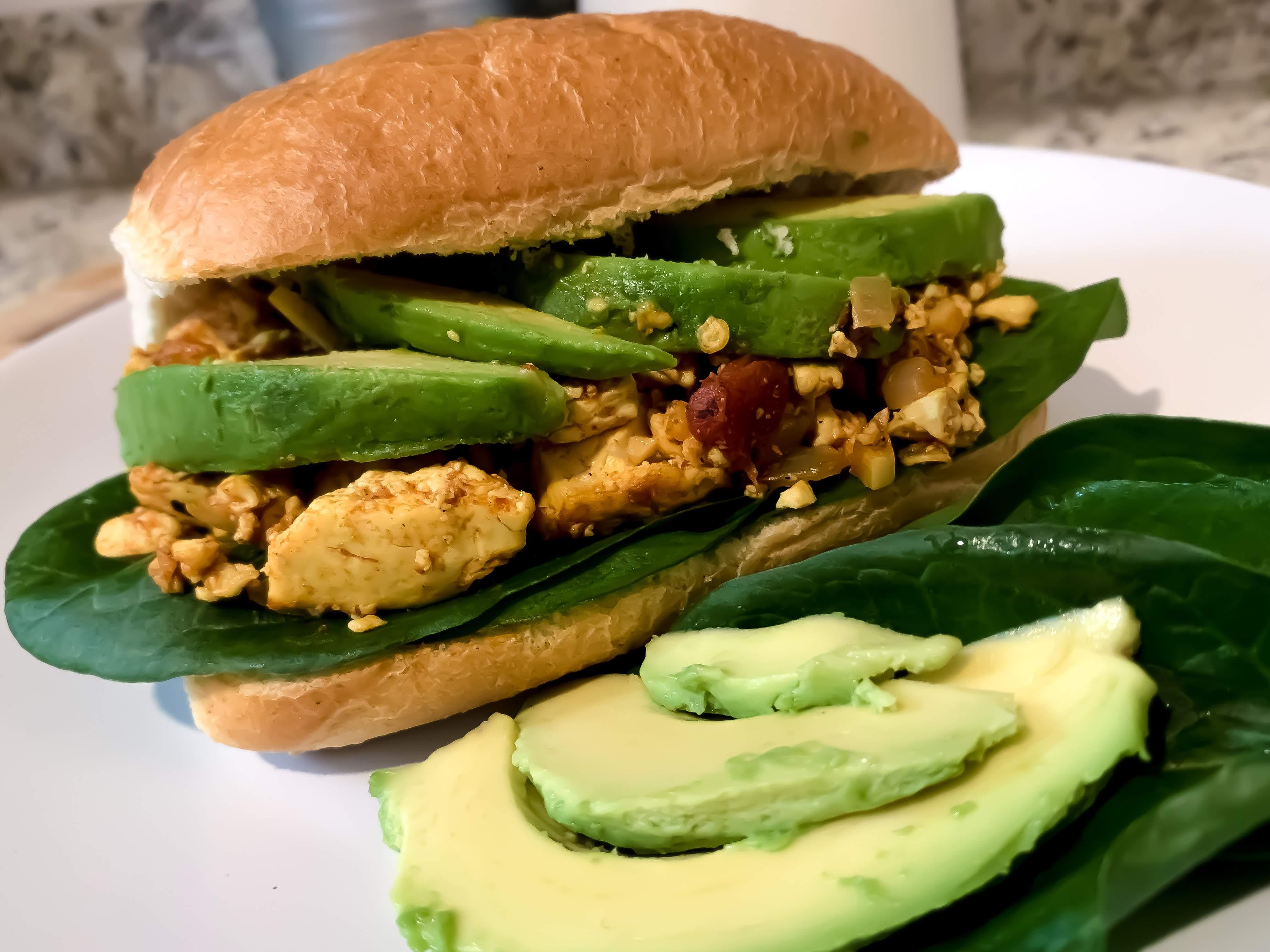 Vegan Tofu Scramble Breakfast Sandwiches